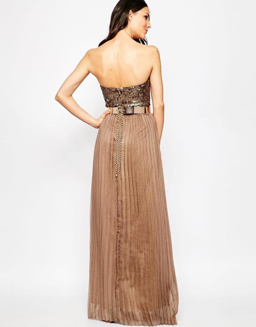 Opulence gold embellished maxi dress