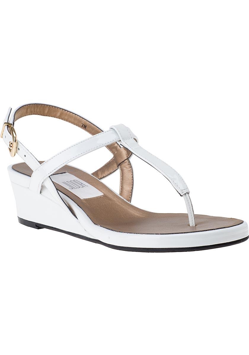vaneli for jildor kaffle wedge sandal white patent in