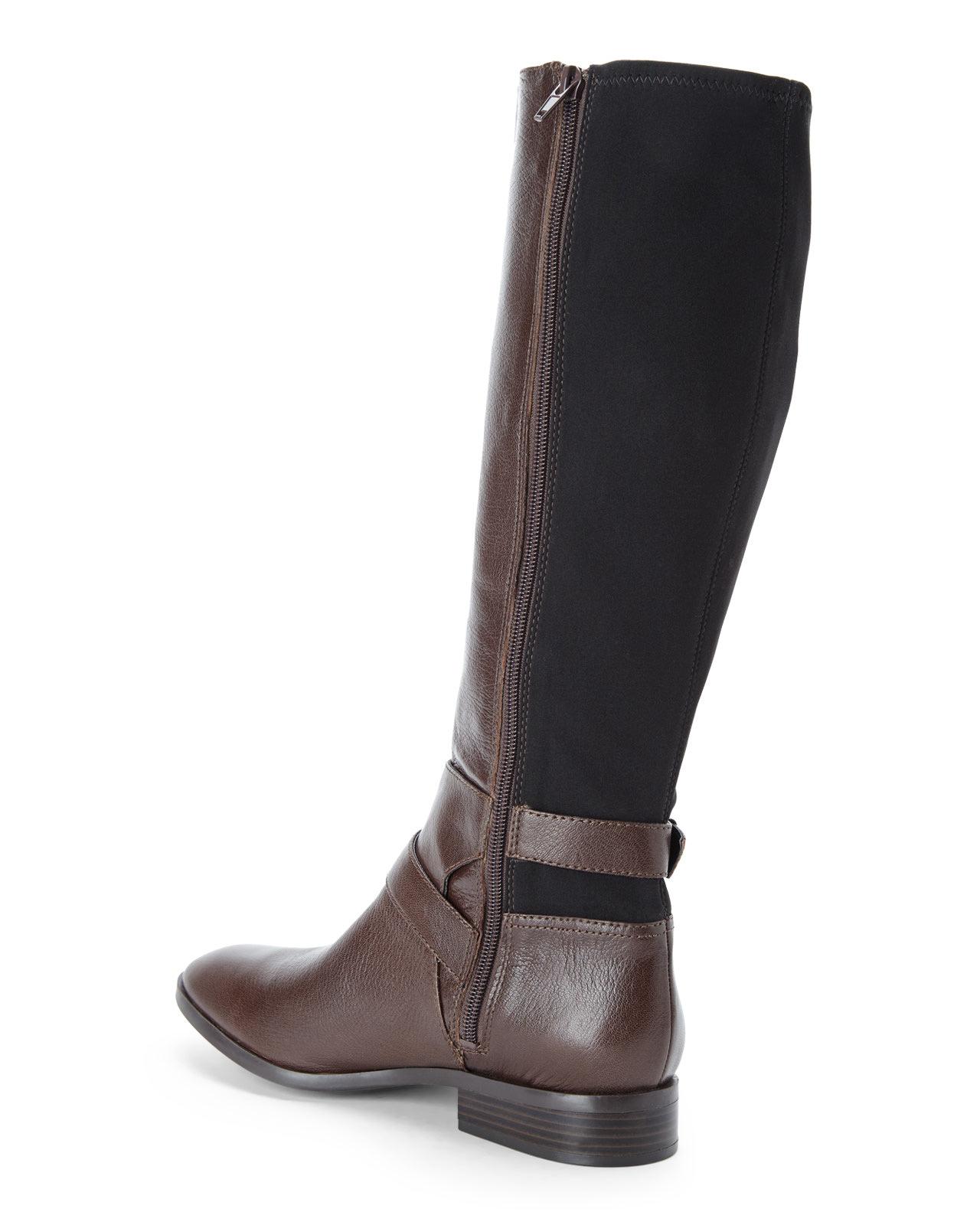 nine west brown black bridge boots in brown