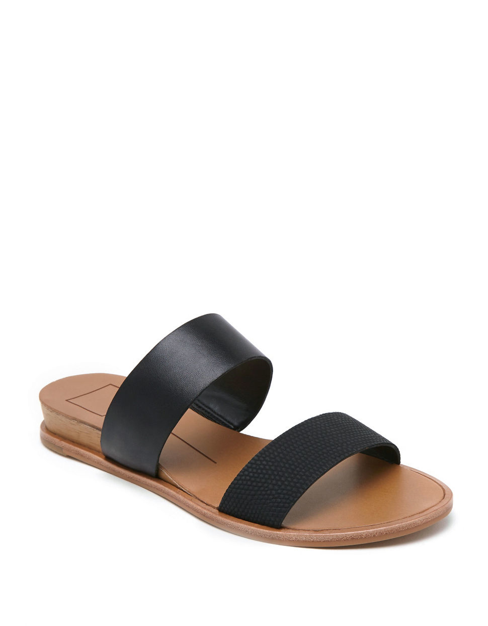 Dolce Vita Payce Leather Slide Sandals In Black Lyst