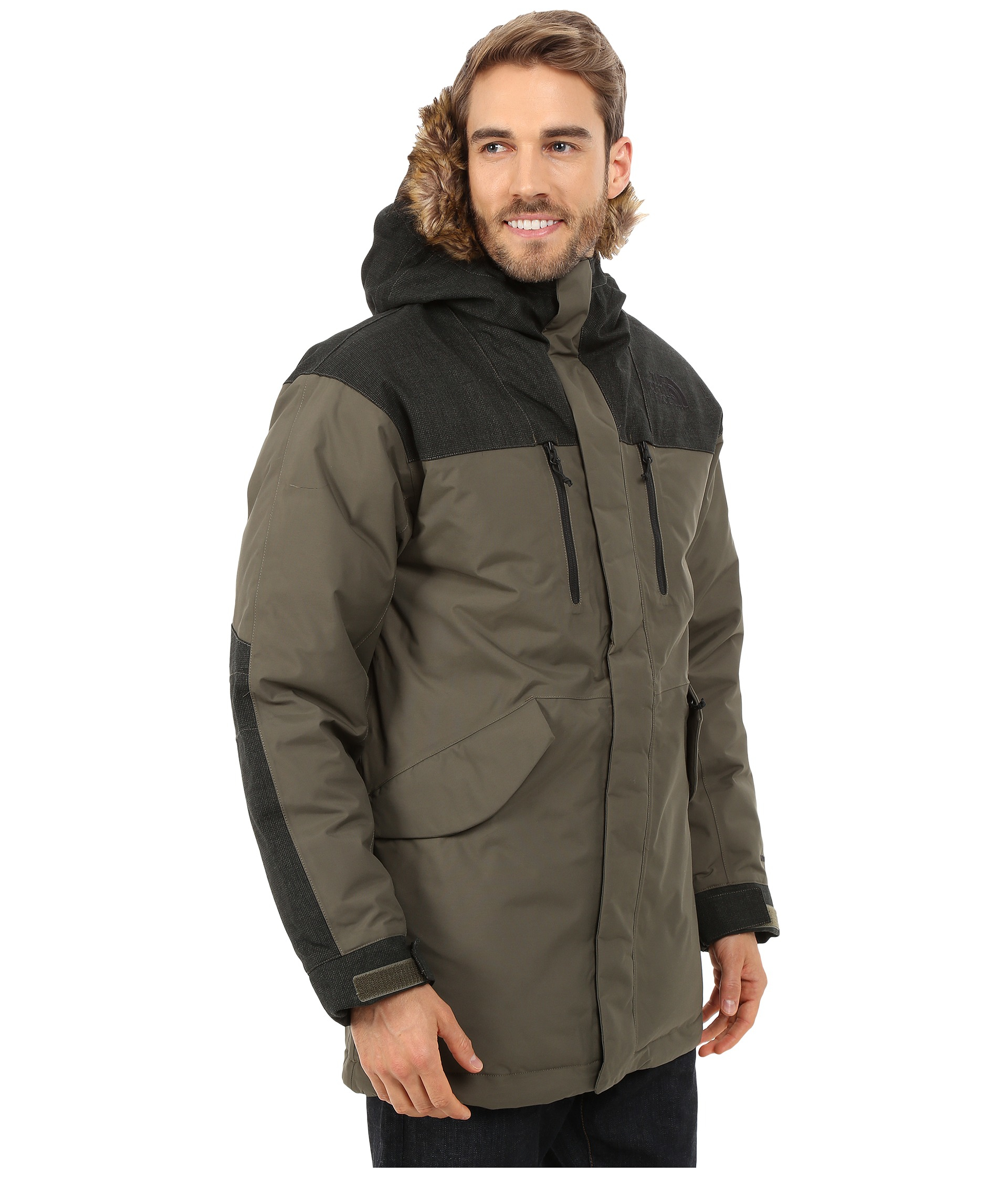 The north face Mount Logan Parka in Brown for Men