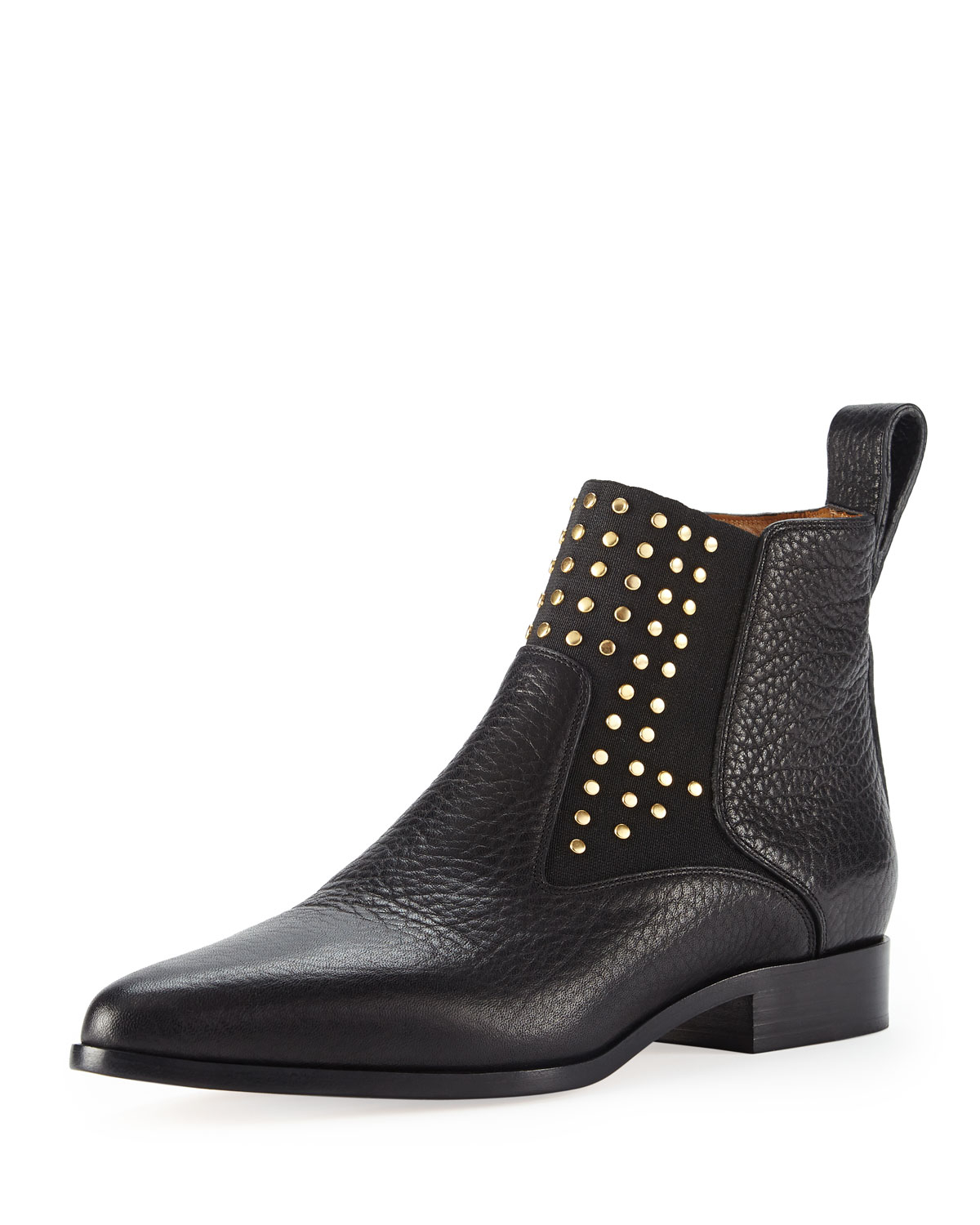 chlo 233 studded leather chelsea boot in black lyst