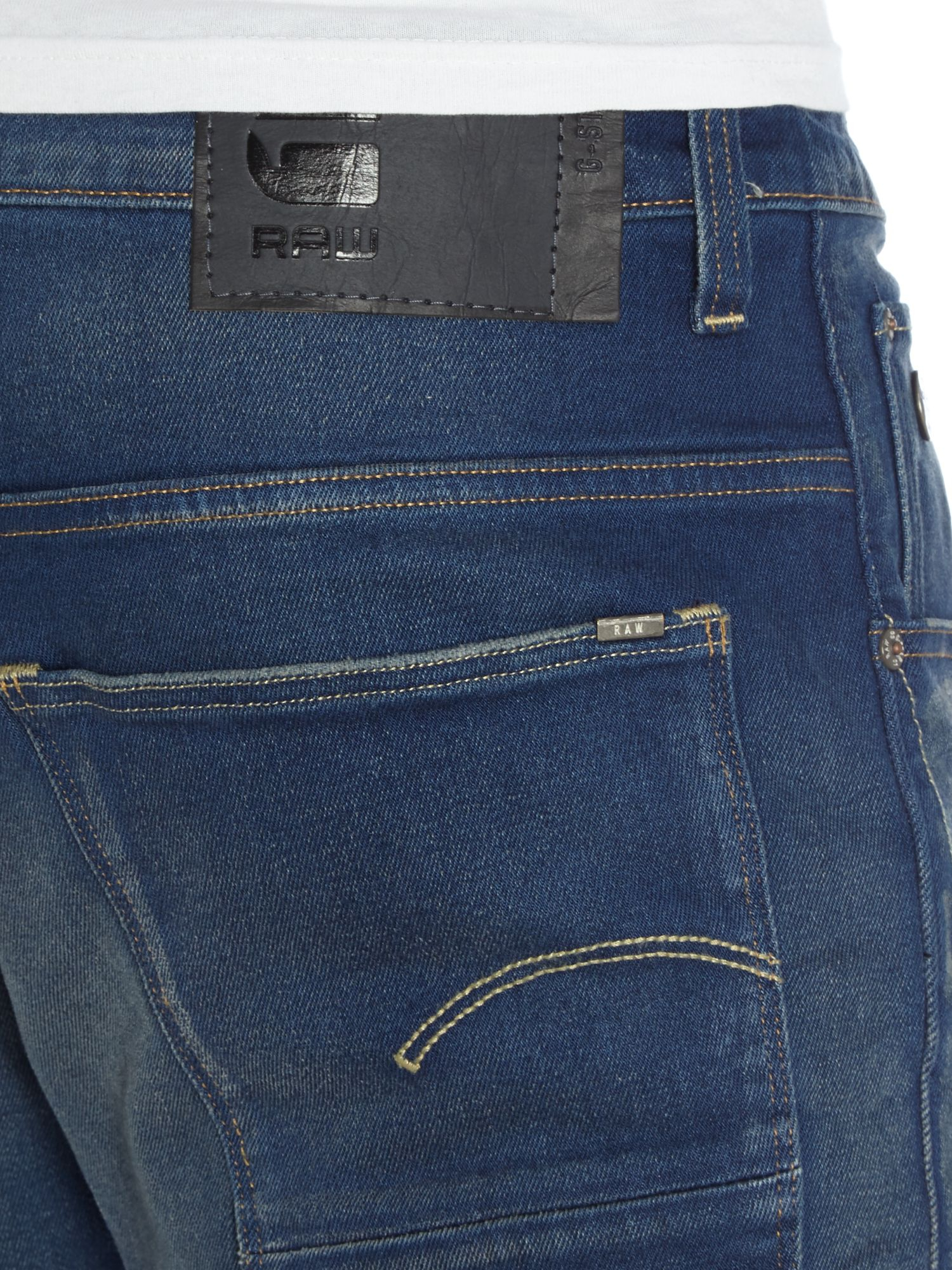 g star raw arc 3d slim med aged firro jeans in blue for. Black Bedroom Furniture Sets. Home Design Ideas
