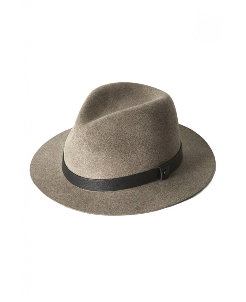 Rag bone taupe abbott fedora in brown lyst Sdb chocolat taupe