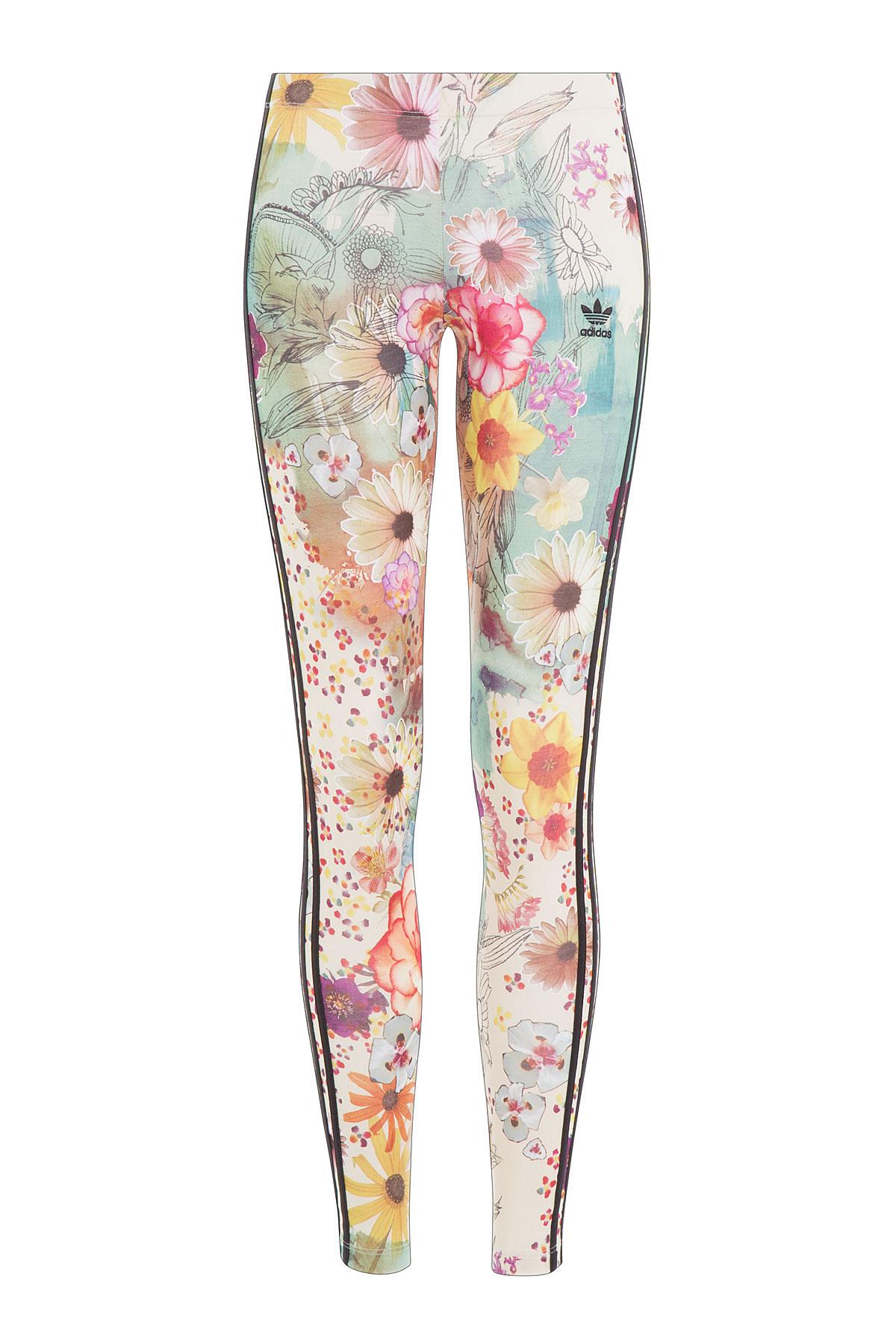 87d74afabb40c adidas Originals Floral Print Leggings - Multicolor - Lyst