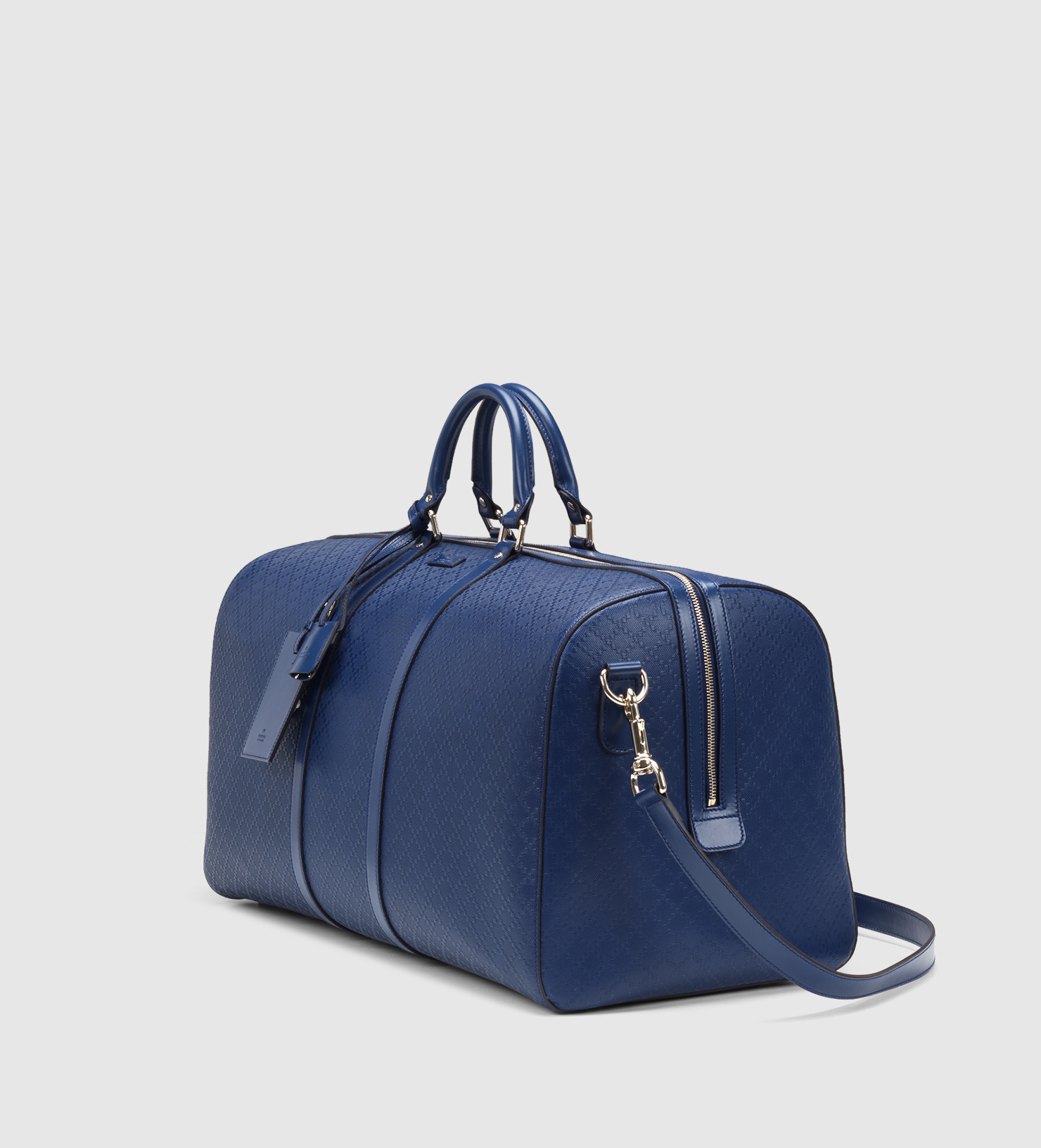 402620785ef4 Gucci Bright Diamante Leather Carry-on Duffle Bag in Blue for Men - Lyst