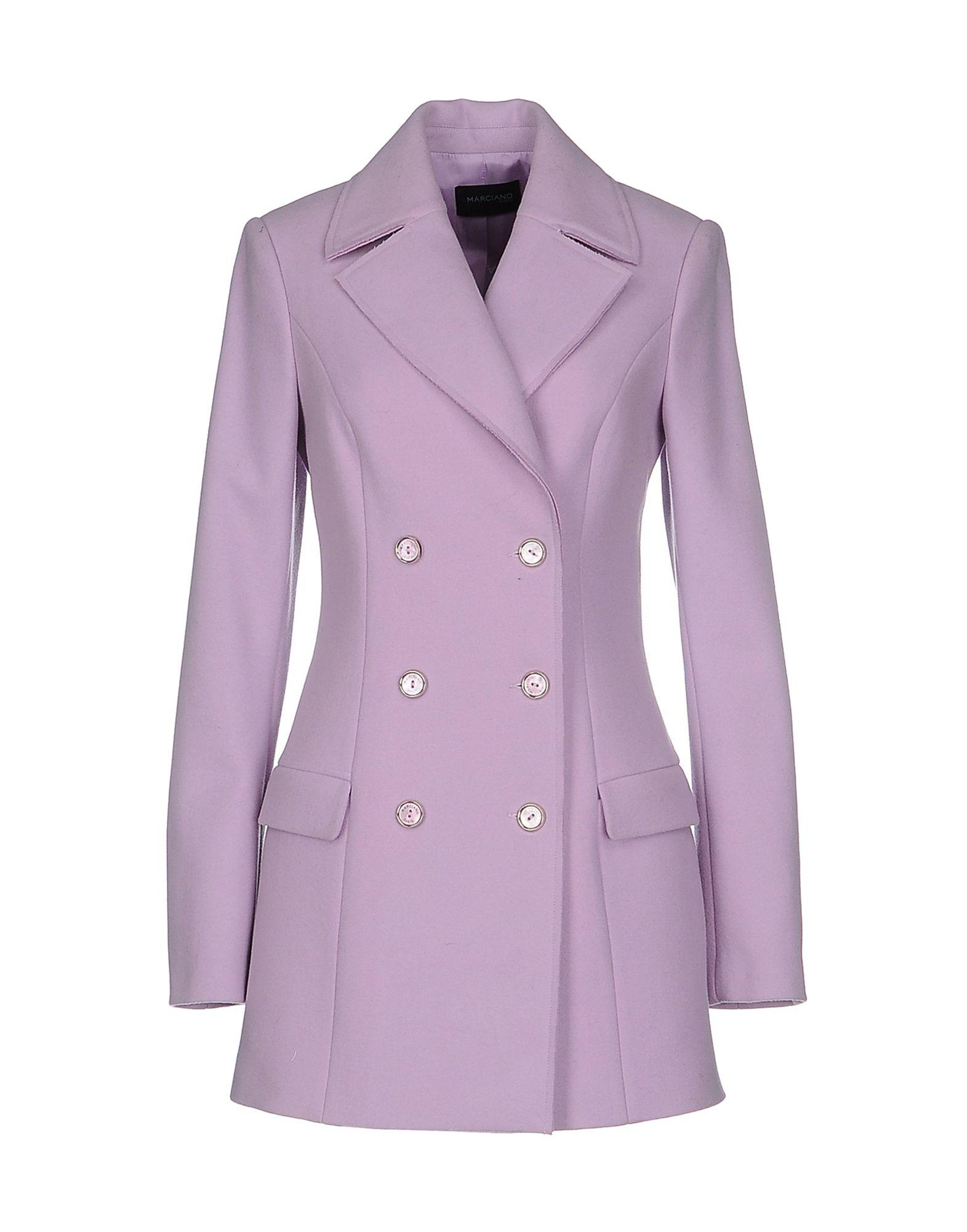 Guess Coat In Purple Light Purple Lyst