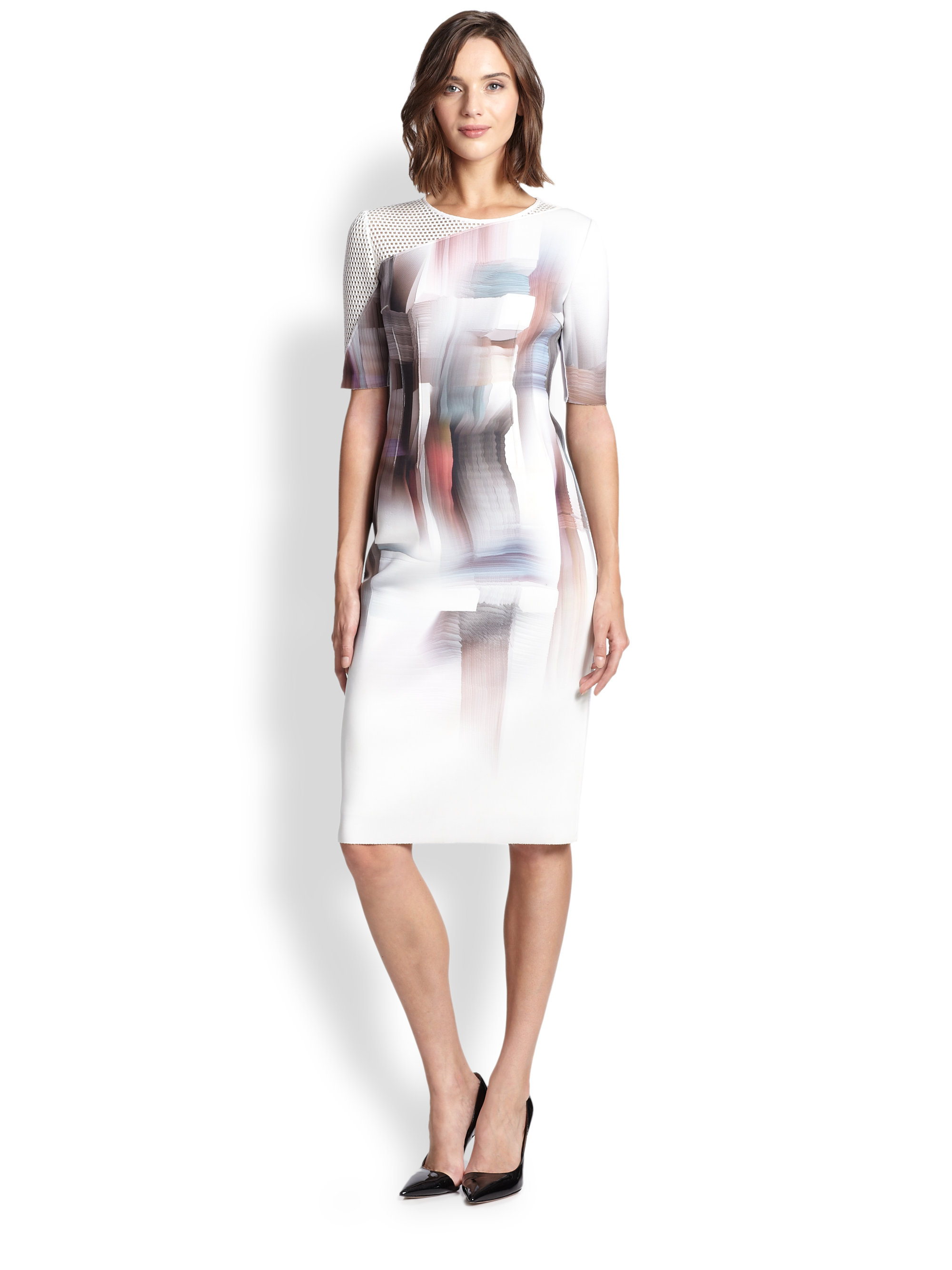 faf4f092ed Elie Tahari Carla Dress in White - Lyst