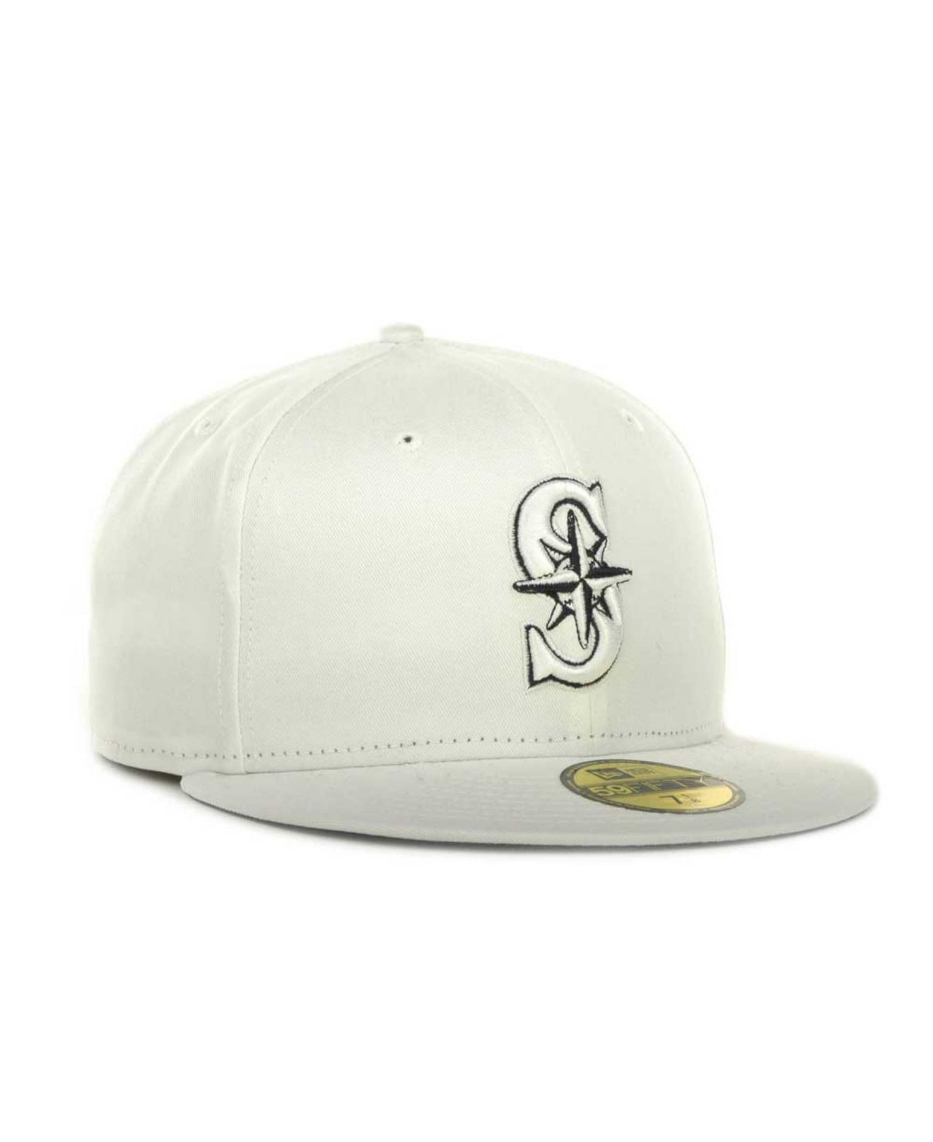 the best attitude 44604 9520c ... best price lyst ktz seattle mariners mlb white on color 59fifty cap in  white 65657 51000