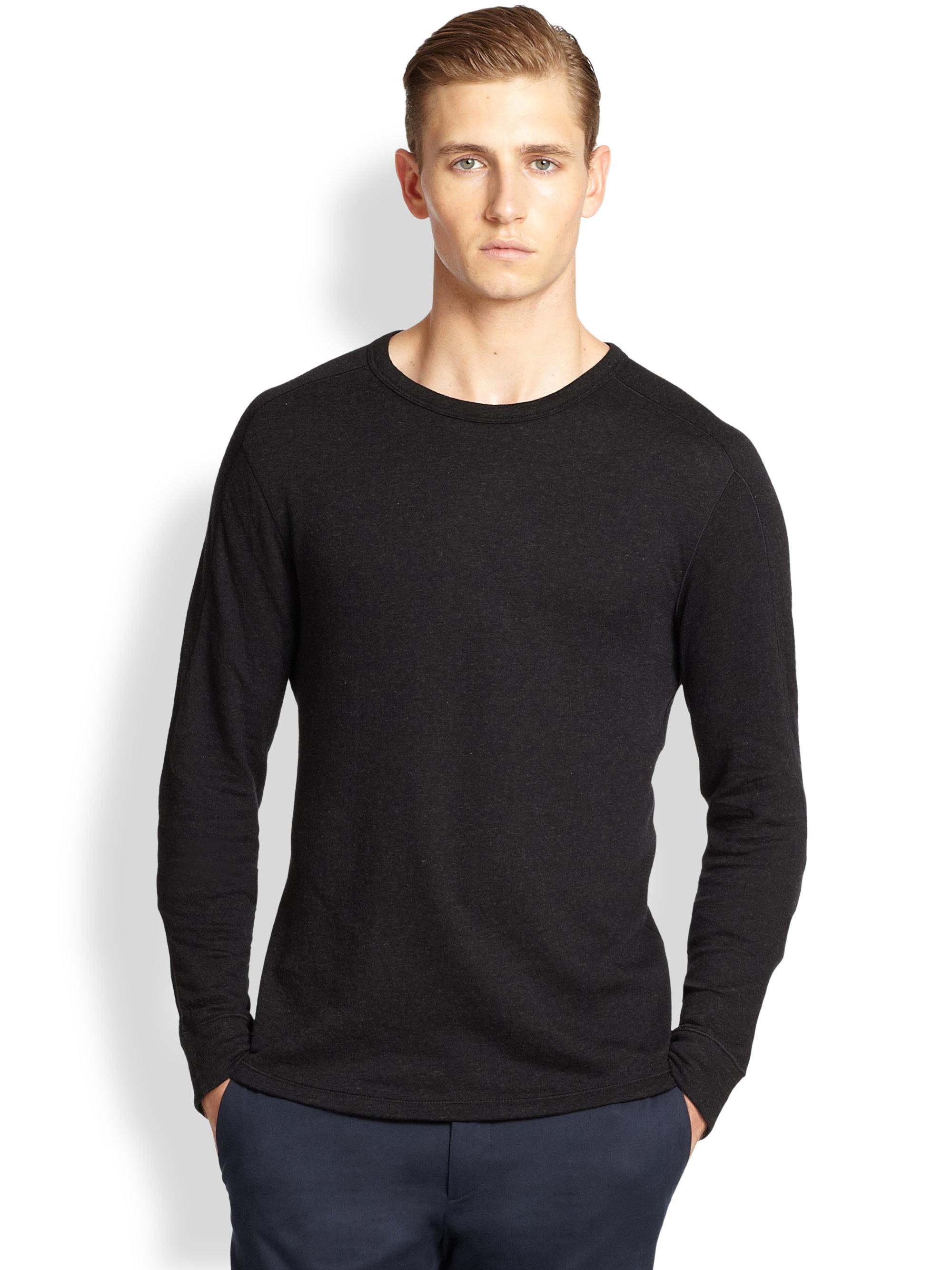 ralph lauren black label crewneck pullover in black for. Black Bedroom Furniture Sets. Home Design Ideas