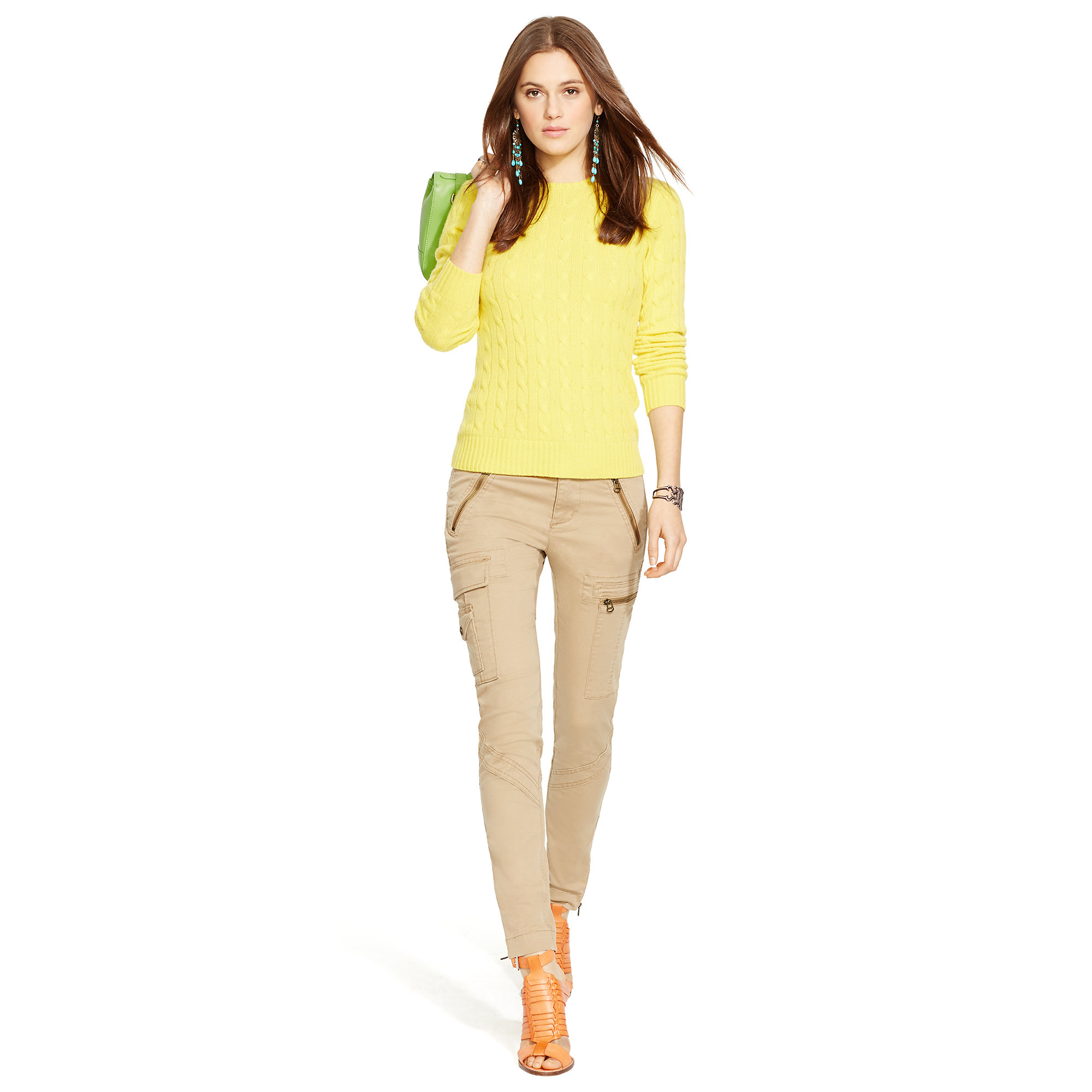 2a20bada Polo Ralph Lauren Stretch Skinny Cargo Pant in Natural - Lyst