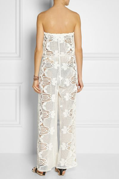 Crochet Jumpsuit : Miguelina Piper Crocheted Cotton-Lace Jumpsuit in White Lyst