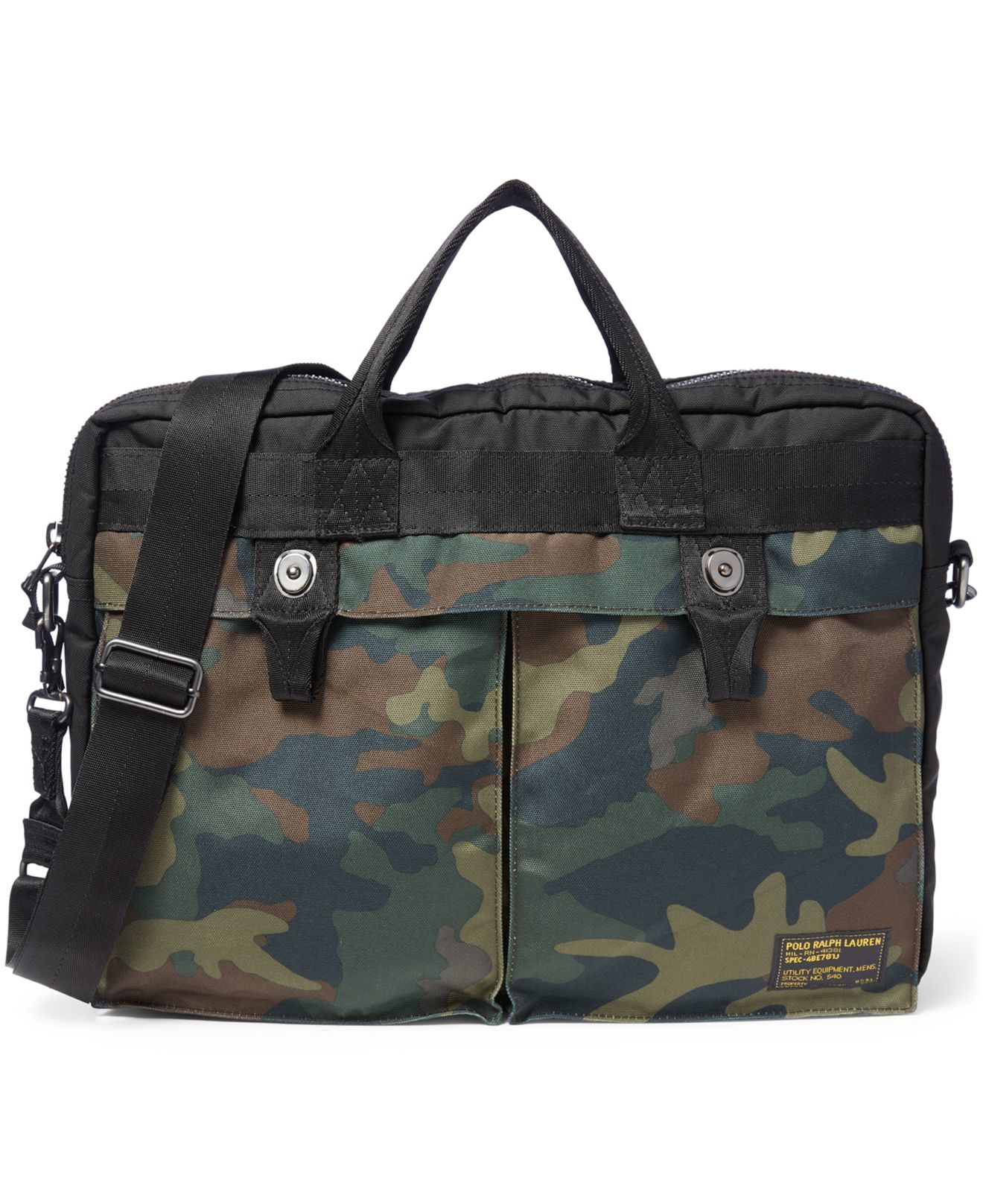 Lyst Polo Ralph Lauren O Print Military Muter Case In Green. Pebbled Leather  Lennox Bag Polo Ralph Lauren 222c77d3a73c8