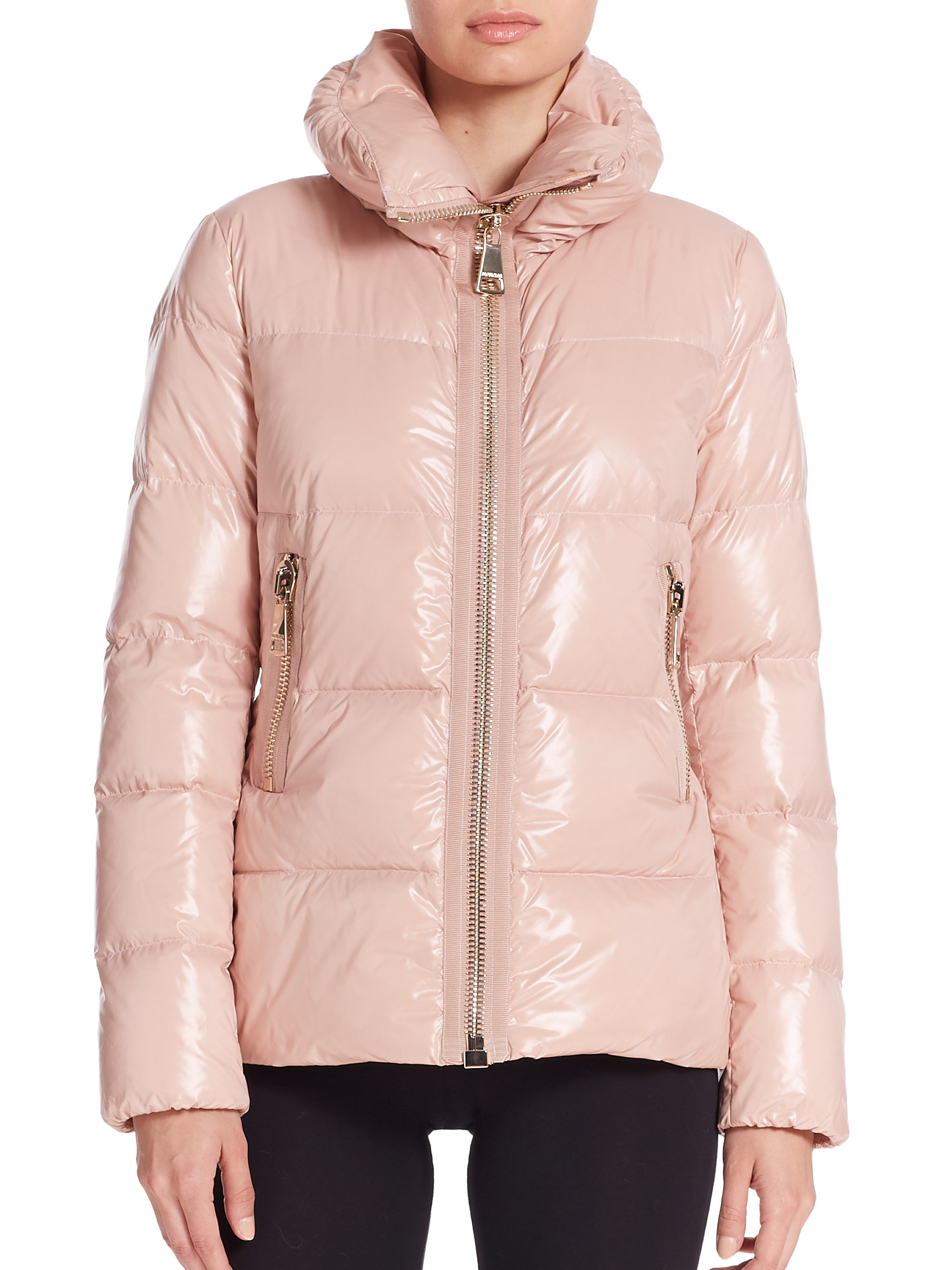 70ebc92a3c9c ... get lyst moncler joux quilted jacket in natural 629ed 8540f