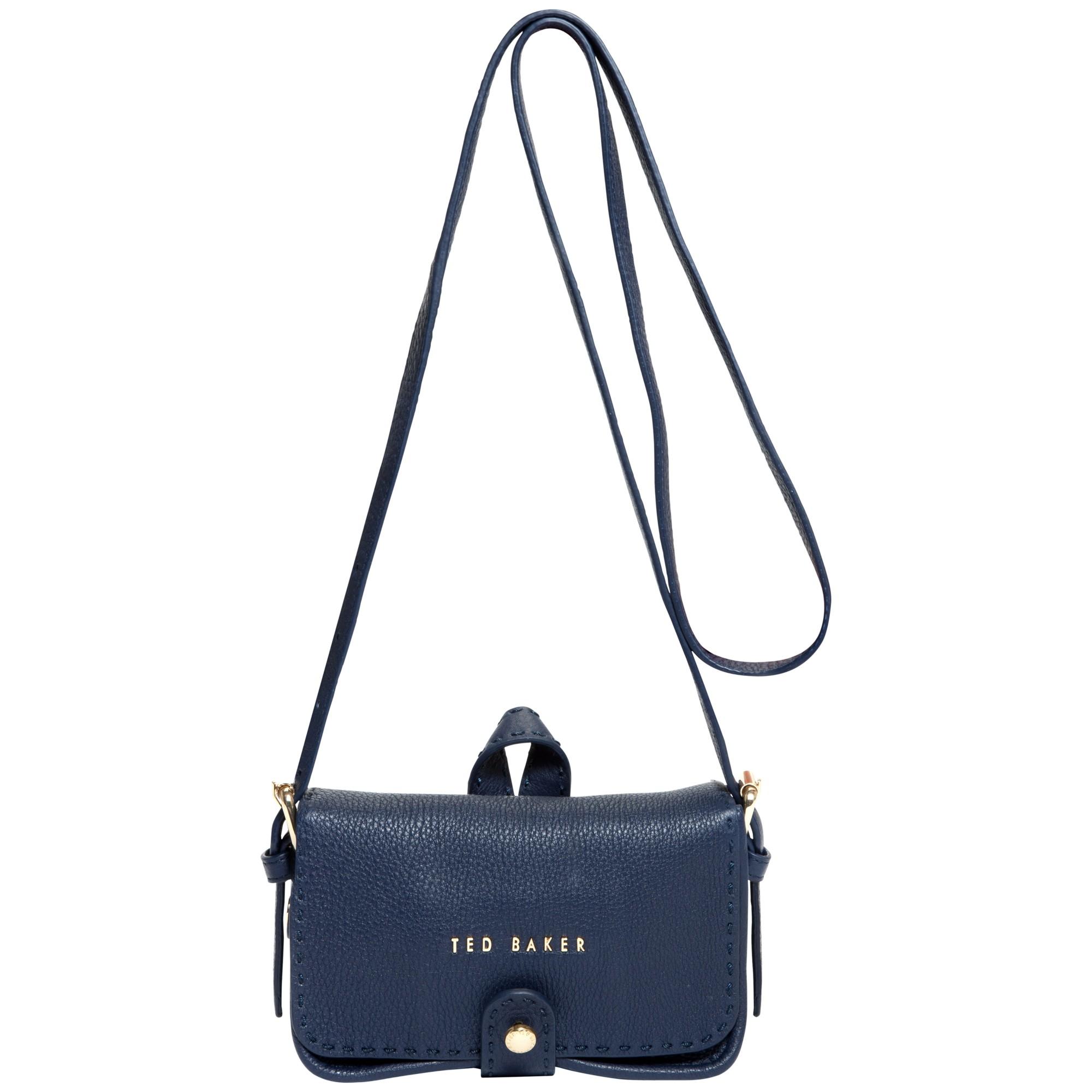 Ted Baker Minimar Stab Stitch Leather Cross Body Bag in Blue - Lyst 85c9af950f75e