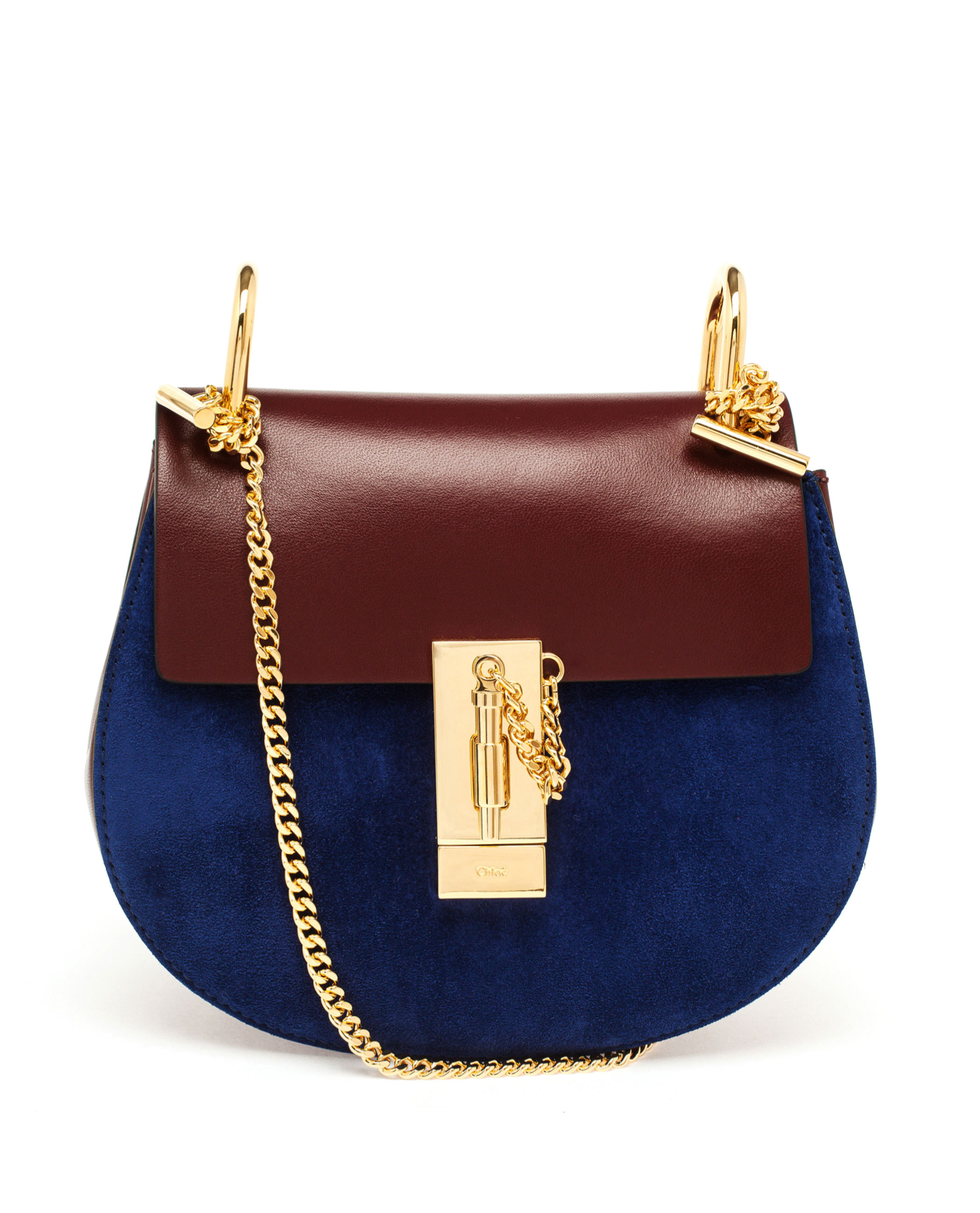 chloe elsie shoulder bag - Chlo�� Small Bi-Colour Drew Bag in Blue (NAVY MULTI) | Lyst