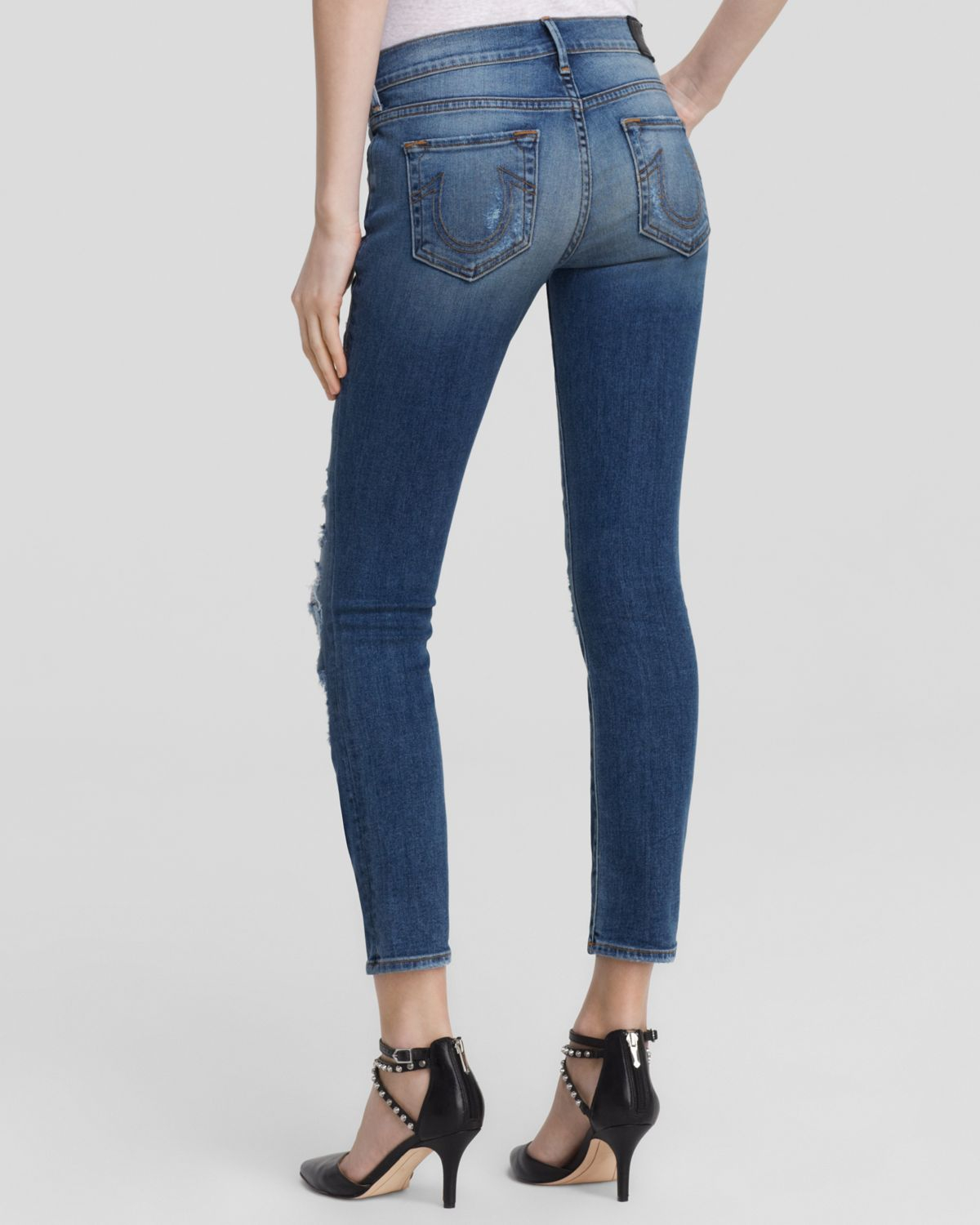 473621499 True Religion Jeans - Cora Mid Rise Straight Crop In Fremont Ave in ...