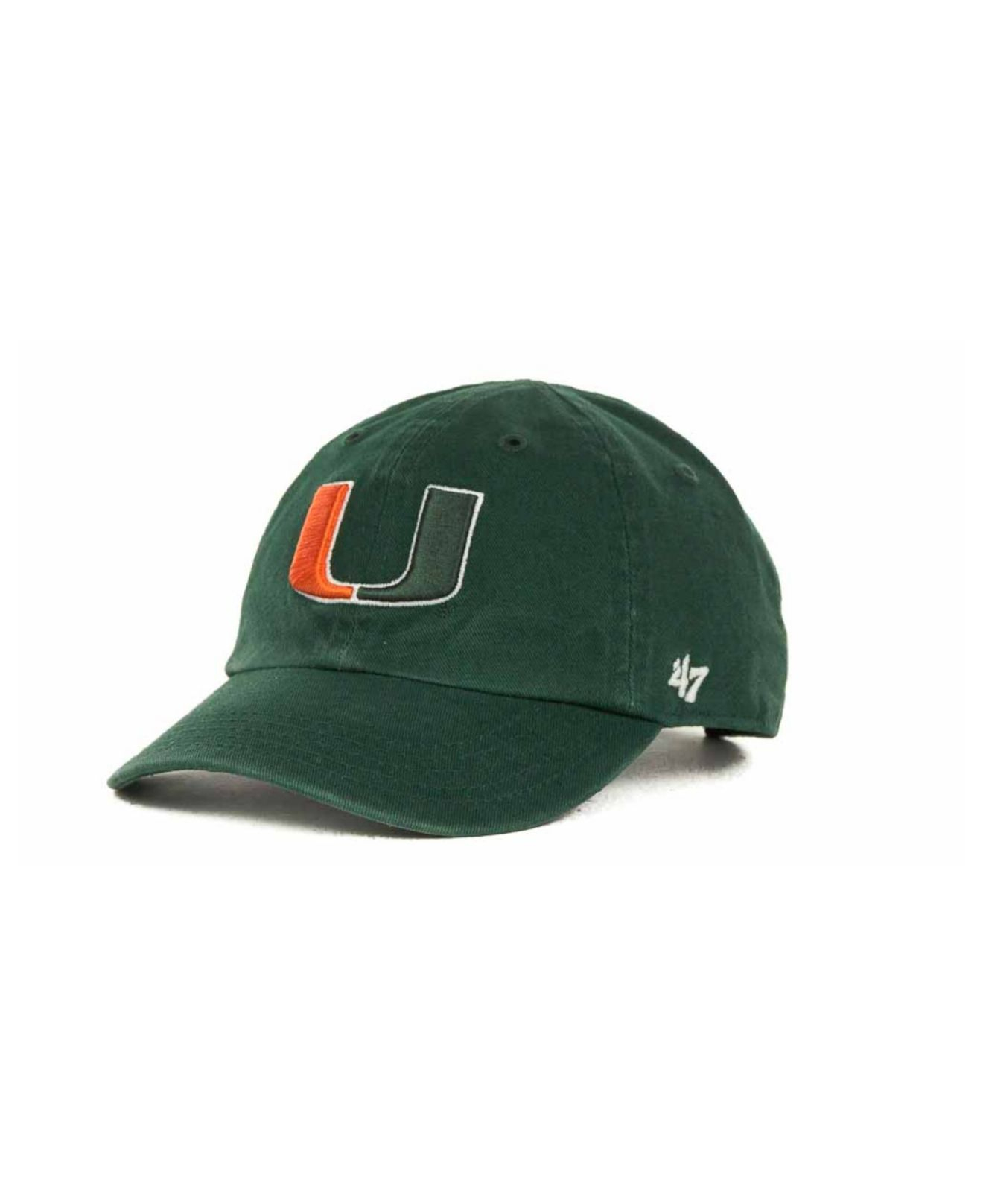 5bd8464ad8d85 ... discount lyst 47 brand toddlers miami hurricanes clean up cap in green  for men 30f45 e36e2