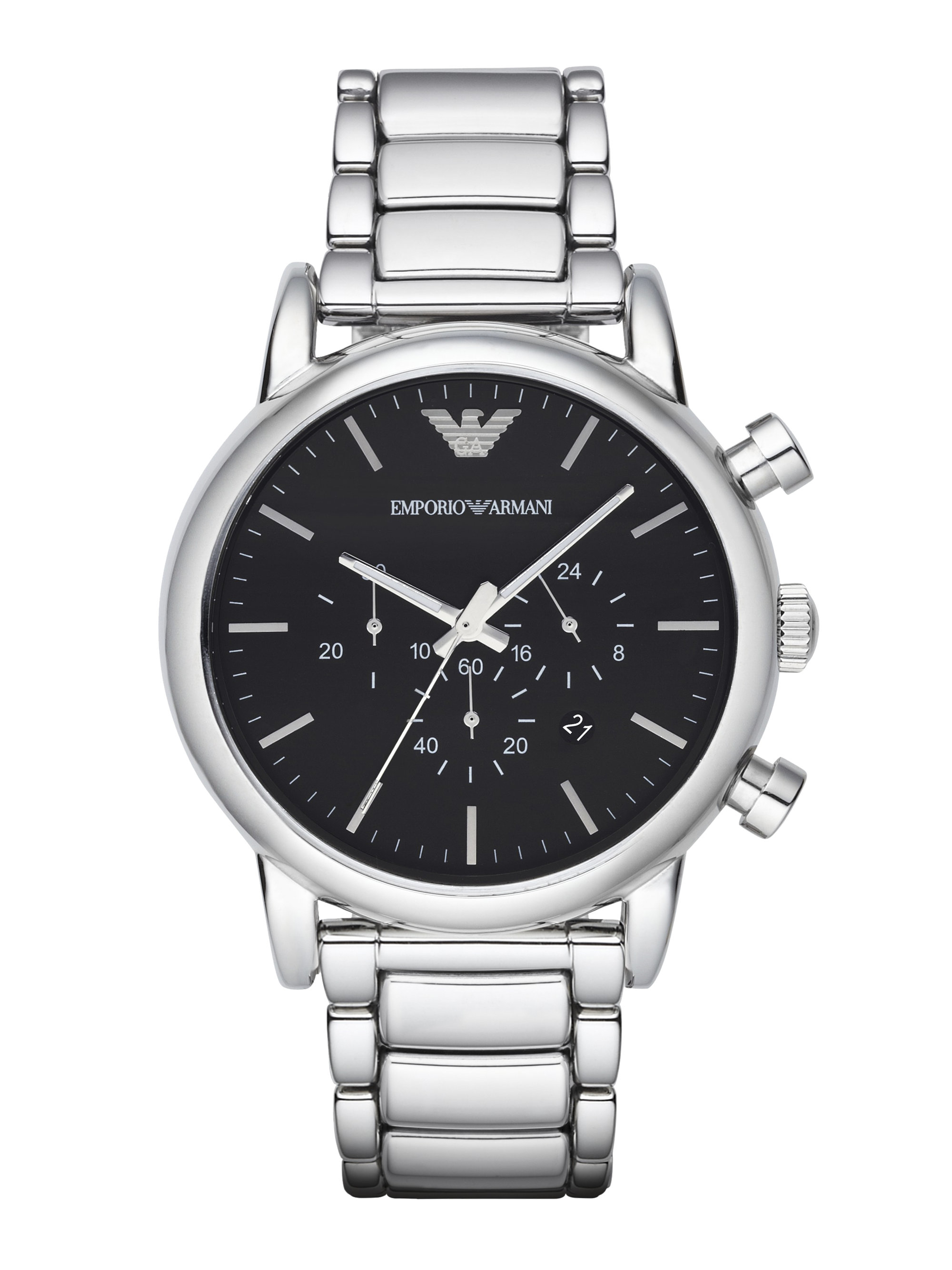 Lyst Emporio Armani Stainless Steel Chronograph Link