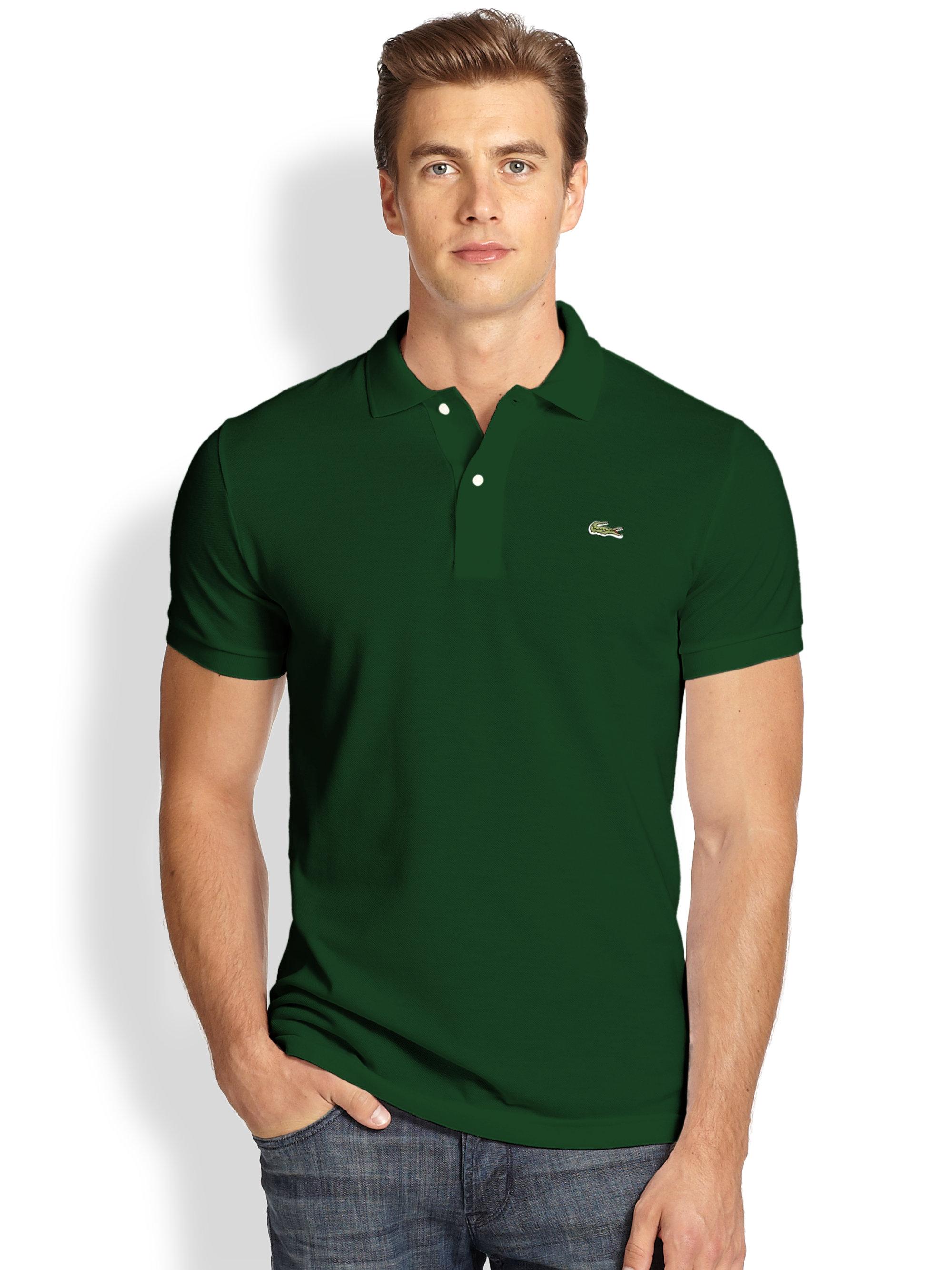 e33205a5f7e Lyst - Lacoste Slim-Fit Polo in Green for Men