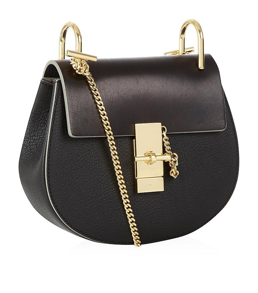 chlo small drew shoulder bag in black lyst. Black Bedroom Furniture Sets. Home Design Ideas
