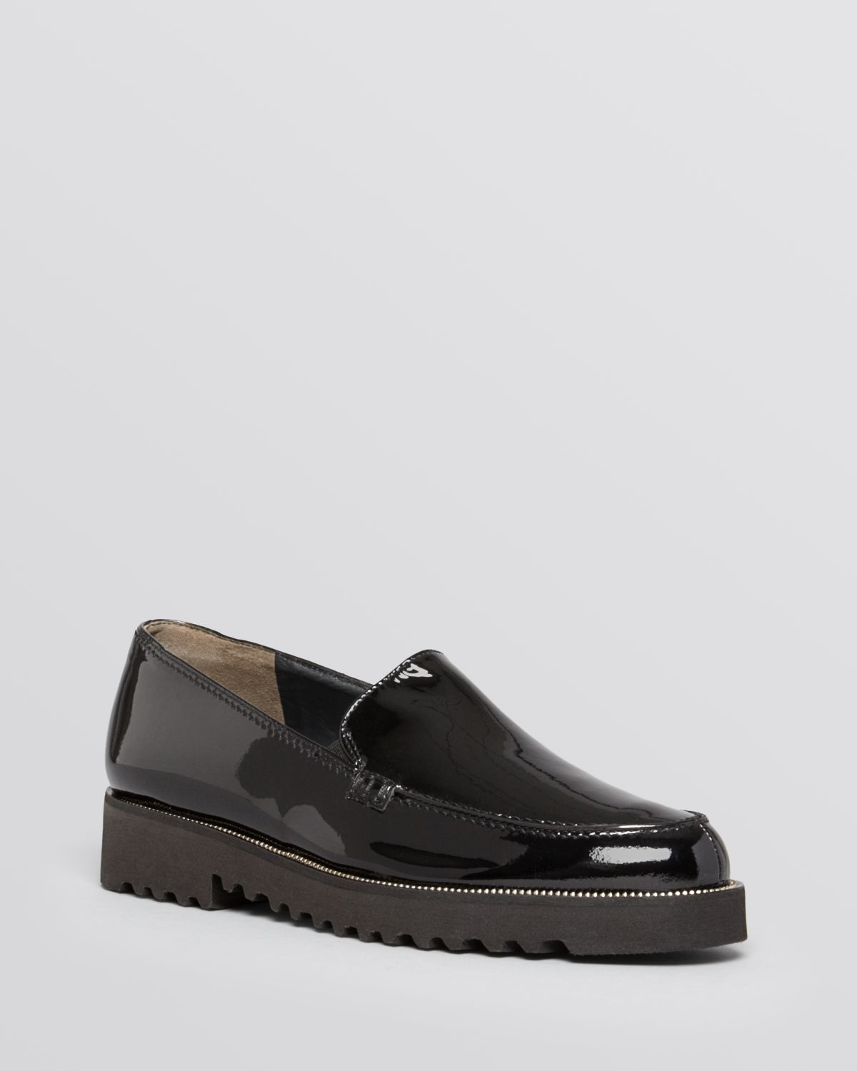 paul green ariana patent loafer flats in black black patent lyst. Black Bedroom Furniture Sets. Home Design Ideas