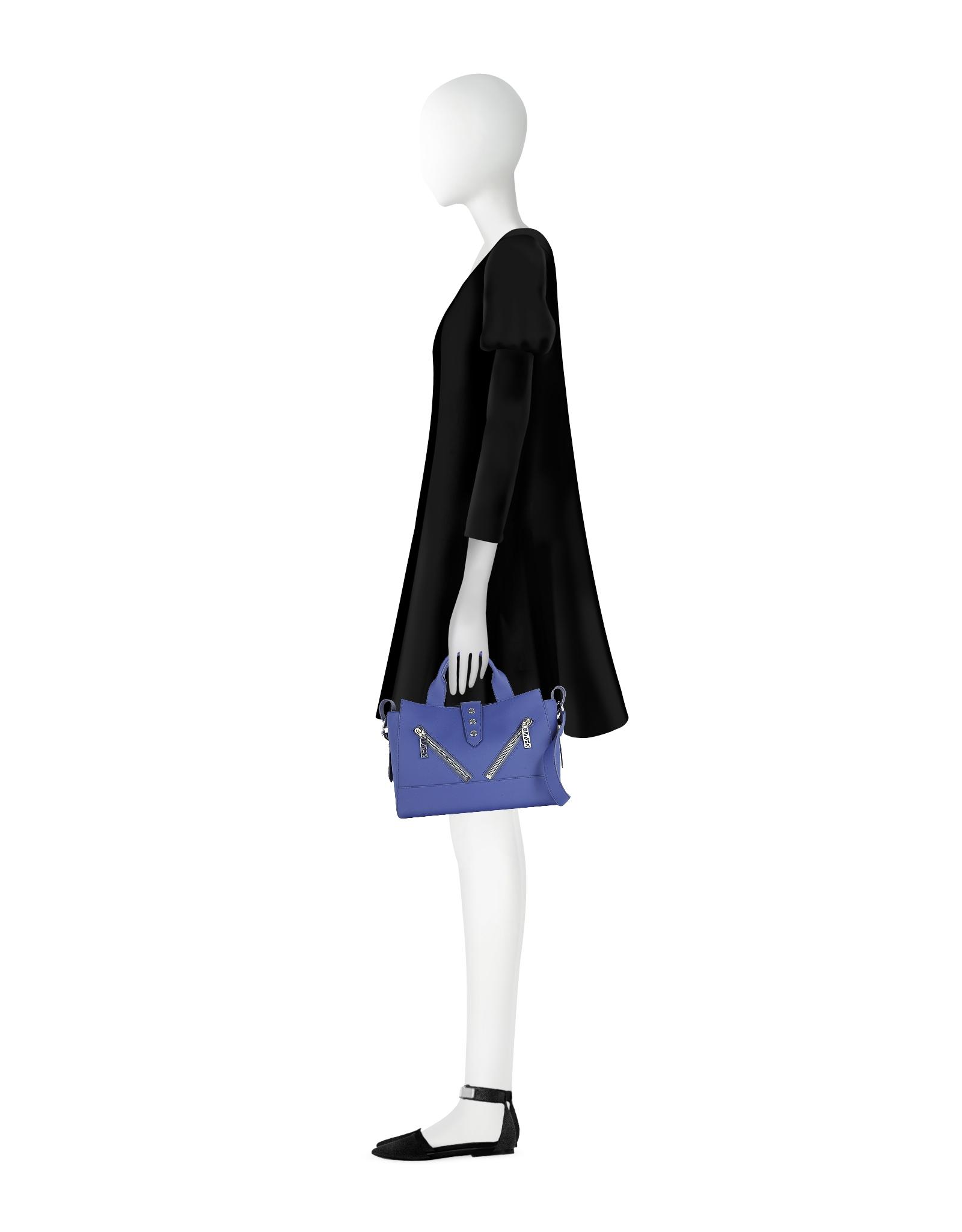 418cc69b KENZO Blue Gommato Leather Kalifornia Tote Bag in Blue - Lyst