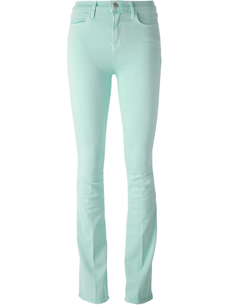 J brand 'Photo Ready Remy' Bootcut Jeans in Green | Lyst