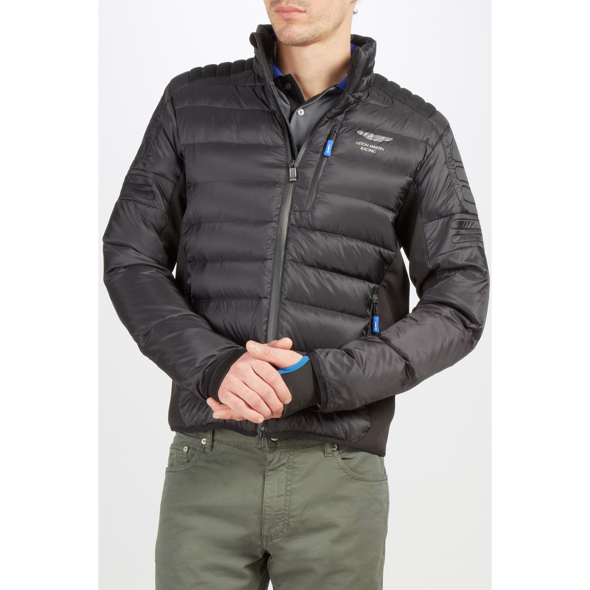 Hackett Aston Martin Racing Tech Down Jacket In Black For Men Lyst