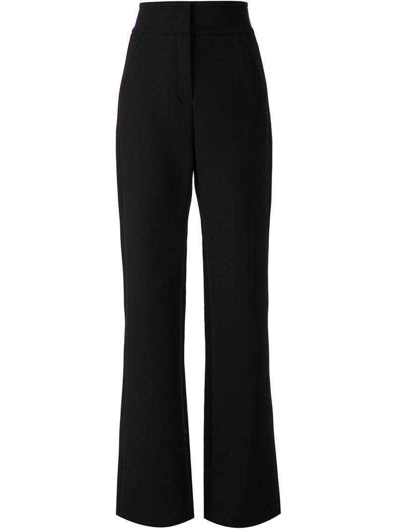 Black high waist bootcut trousers