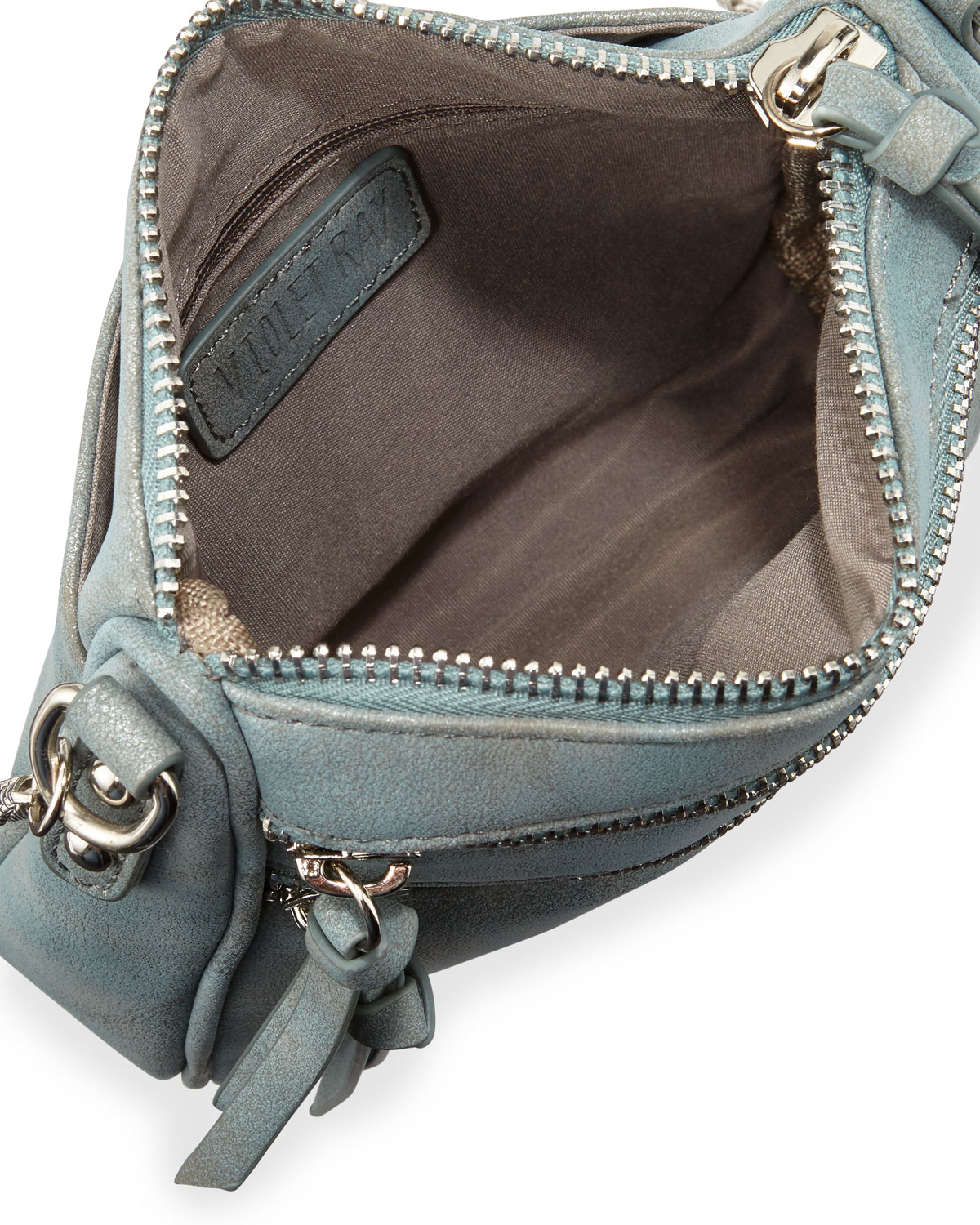 5d3445226e Lyst - Violet Ray Lizzy Faux-suede Zip Crossbody Bag in Blue