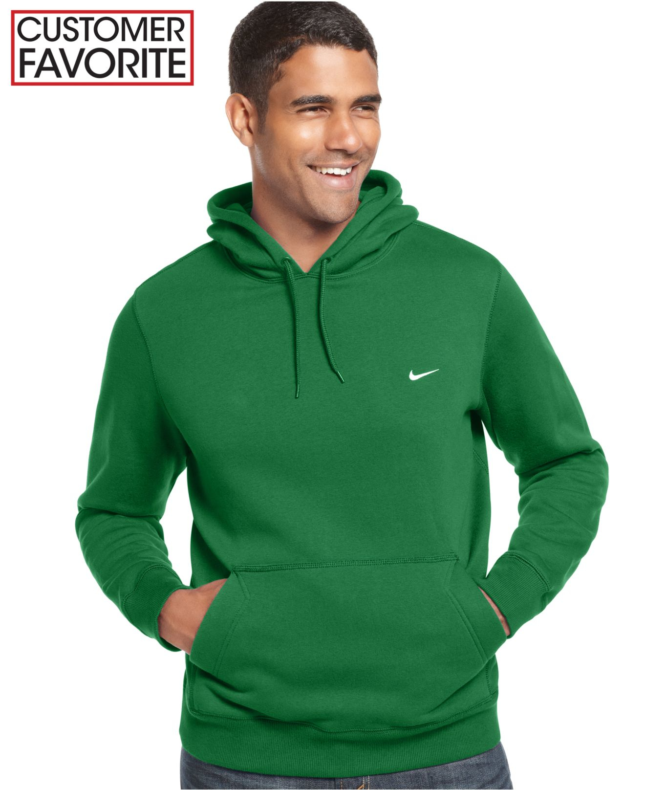 Fleece Hoodie Nike Lyst Men Pullover Classic In Qzu8zxq Green For xEgqIIw7