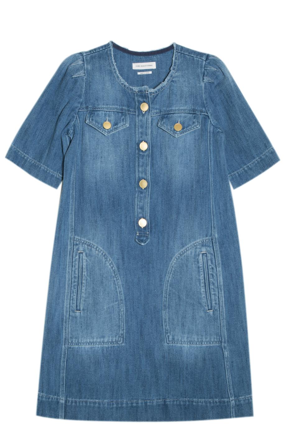1808315161 Lyst - Étoile Isabel Marant Oriane Denim Dress in Blue