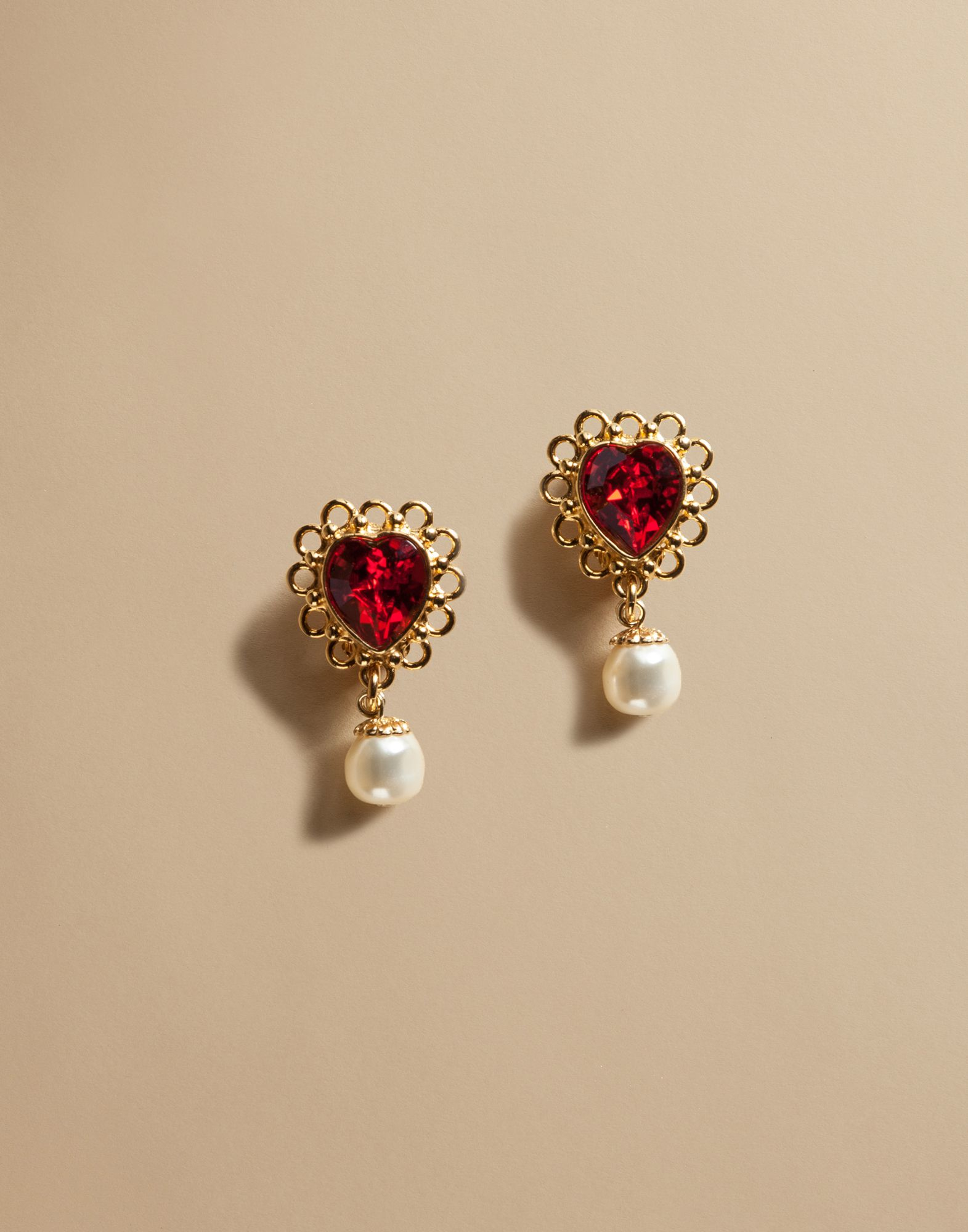 Lyst Dolce Amp Gabbana St Valentine Earrings With Crystal