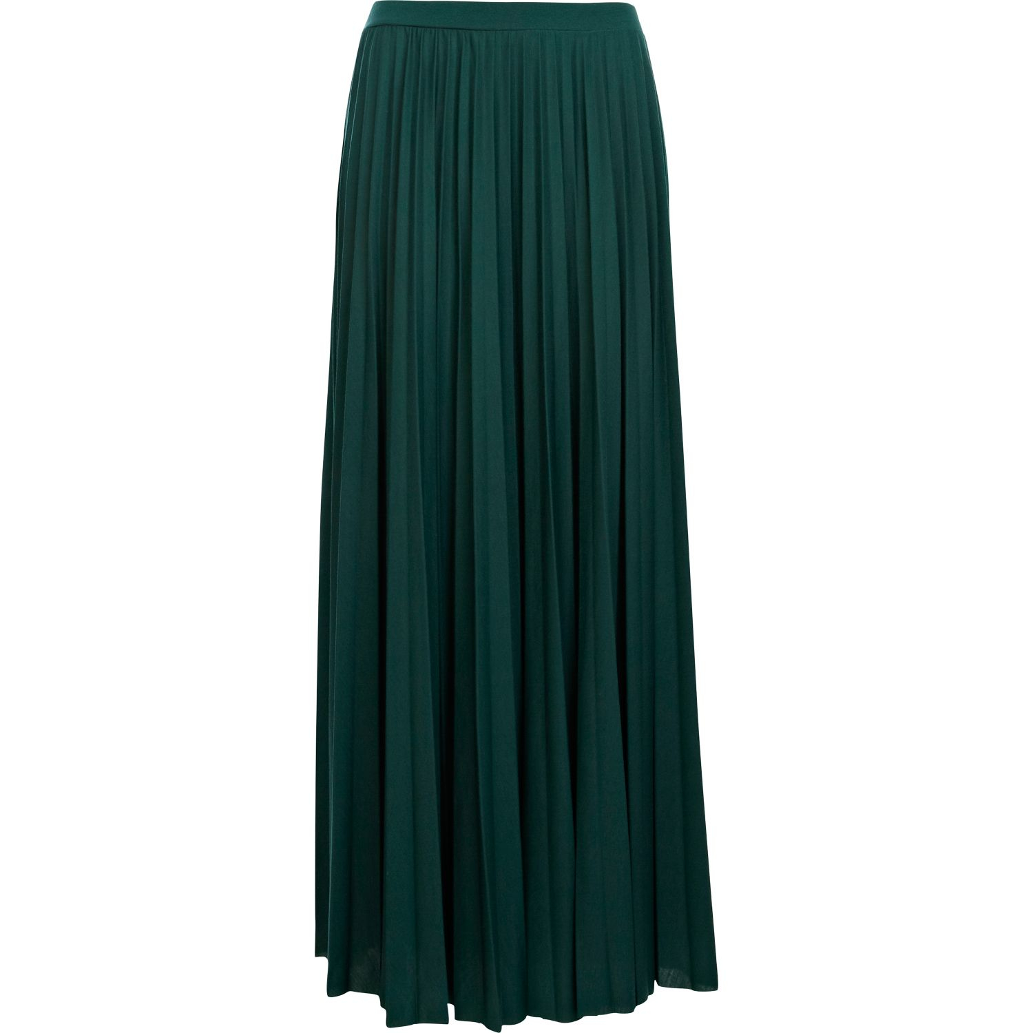 river island green pleated maxi skirt in green lyst