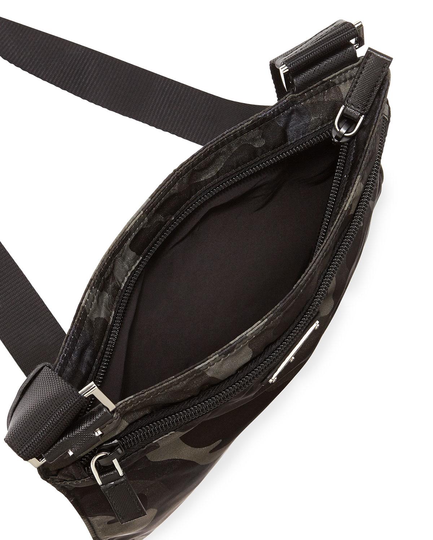 edb7a89a1e54 Prada Tessuto Camo-Print Crossbody Bag in Green for Men - Lyst