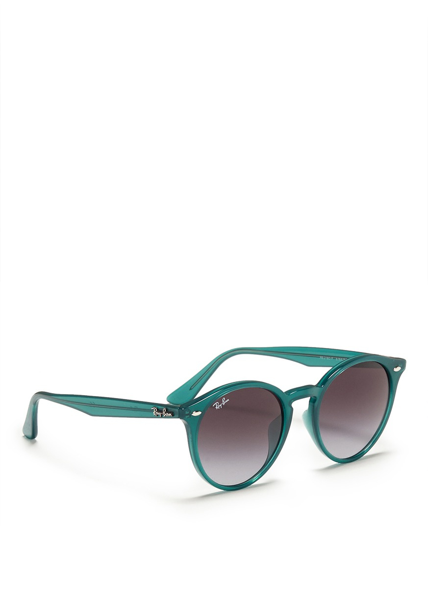 Lyst - Ray-Ban \'rb2180\' Round Frame Acetate Sunglasses in Green