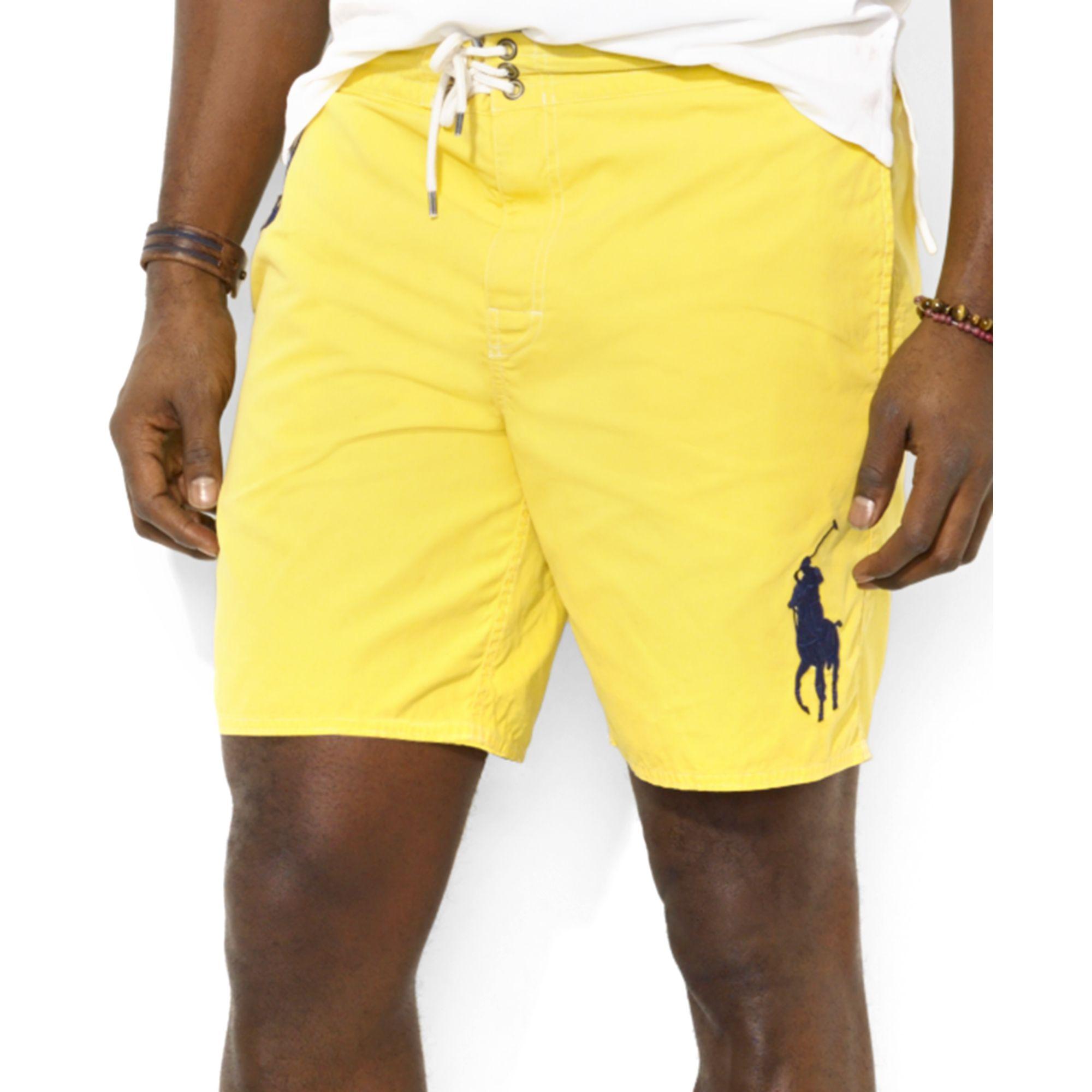 aeecd389c7aa4 ... closeout lyst ralph lauren polo big and tall sanibel swim shorts in  yellow 78db3 9ac85