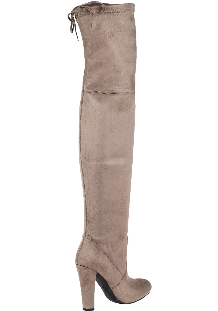 27dce73f8314 Steve Madden Gorgeous Suede Over-The-Knee Boots in Brown - Lyst