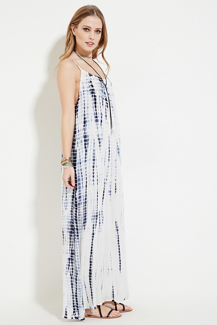 1d661c843f1 Forever 21 Boho Me Tie Dye Maxi Dress in White - Lyst