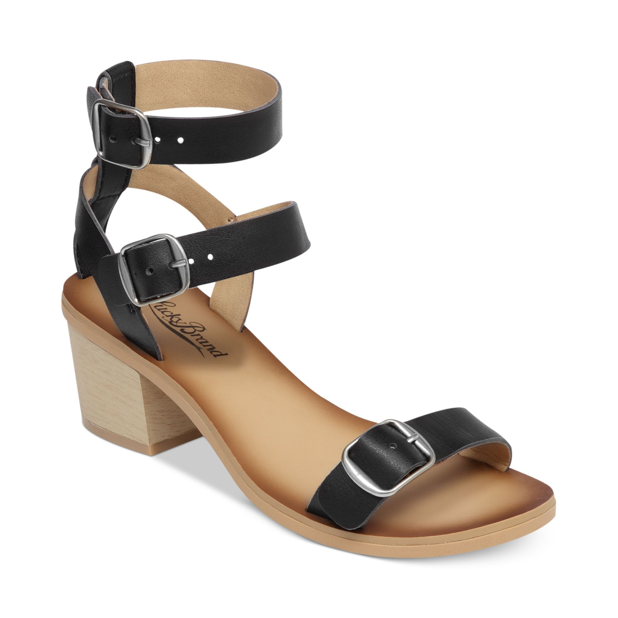Lucky Brand Womens Iness City Sandals In Black   Lyst