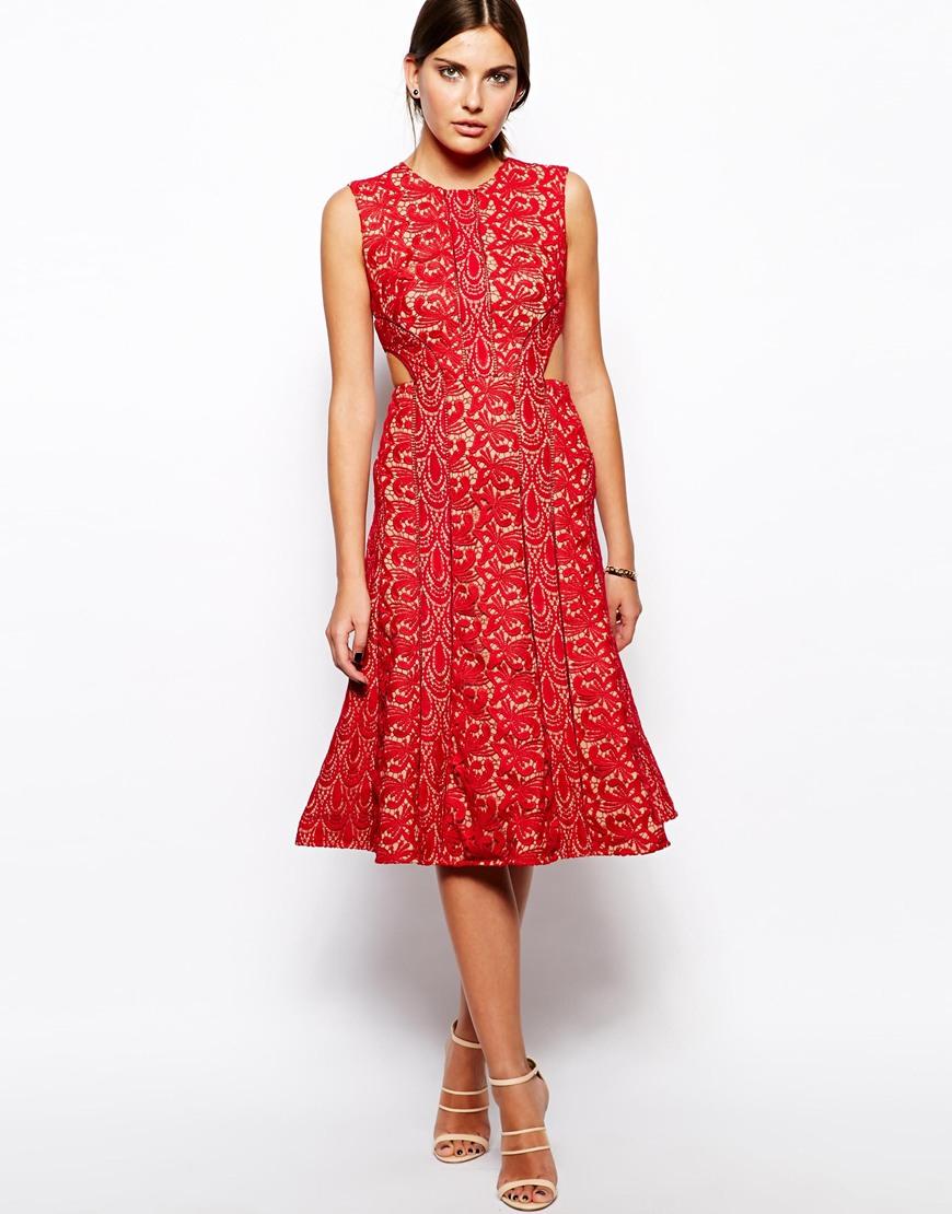 lace midi dress - photo #48