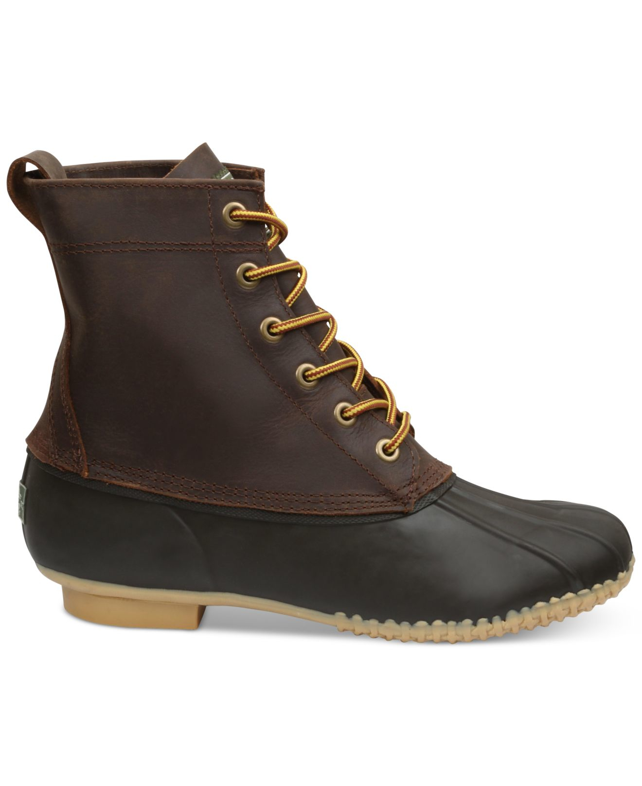 g h bass co blizzard lace up waterproof boots in brown