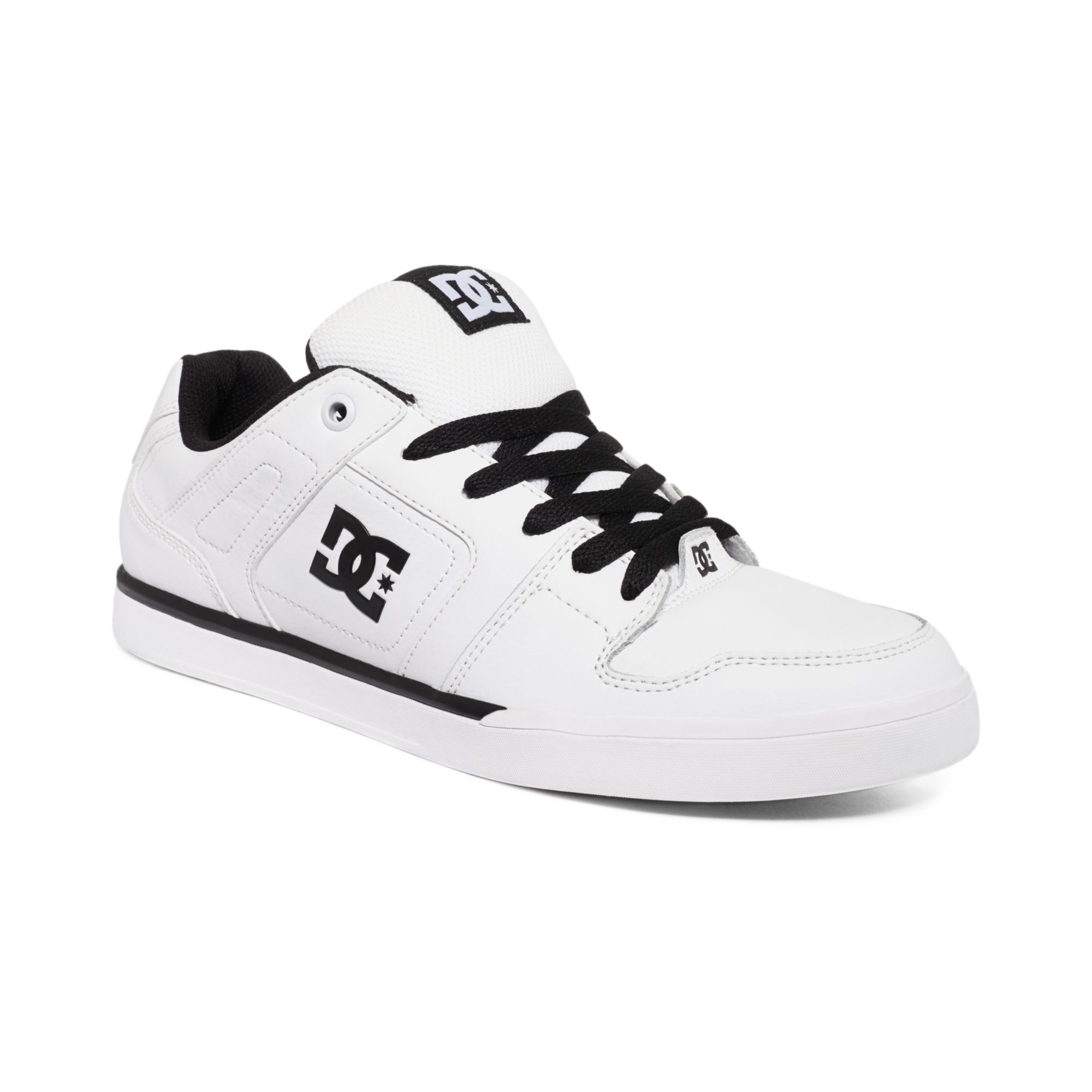 dc shoes static sneakers in white for lyst