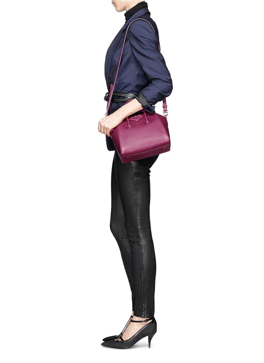 3e806e12b5 Lyst - Givenchy  antigona  Mini Leather Bag in Pink
