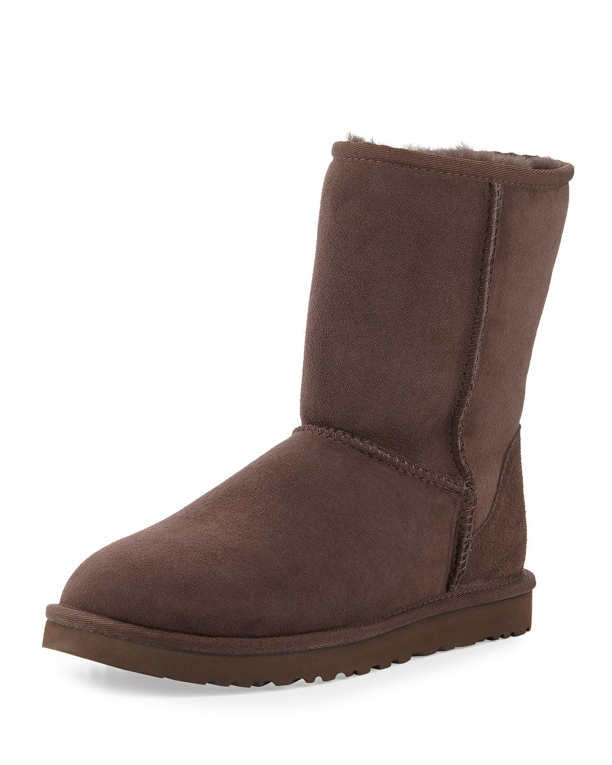 ugg classic short suede boot in brown lyst. Black Bedroom Furniture Sets. Home Design Ideas