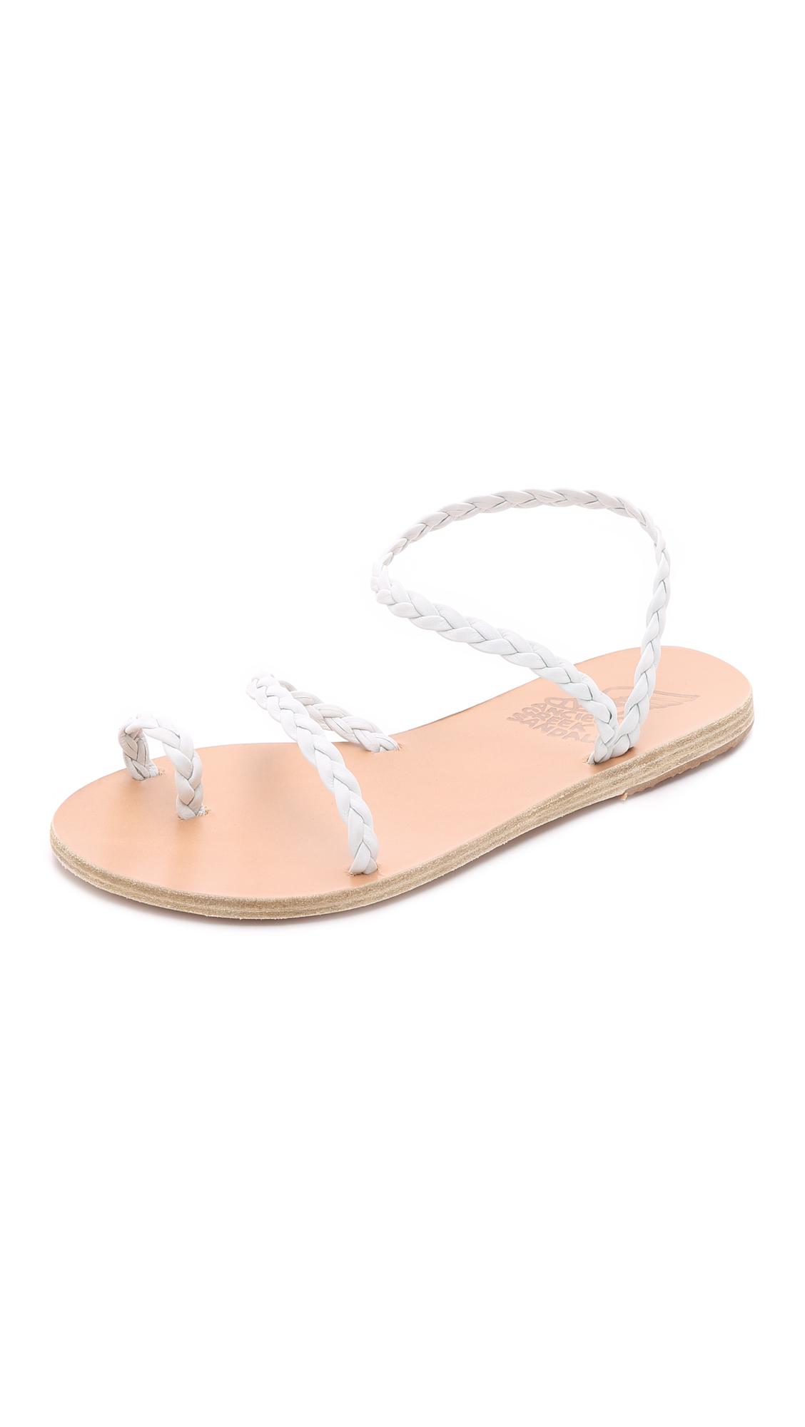 Lyst Ancient Greek Sandals Eleftheria Sandals In White