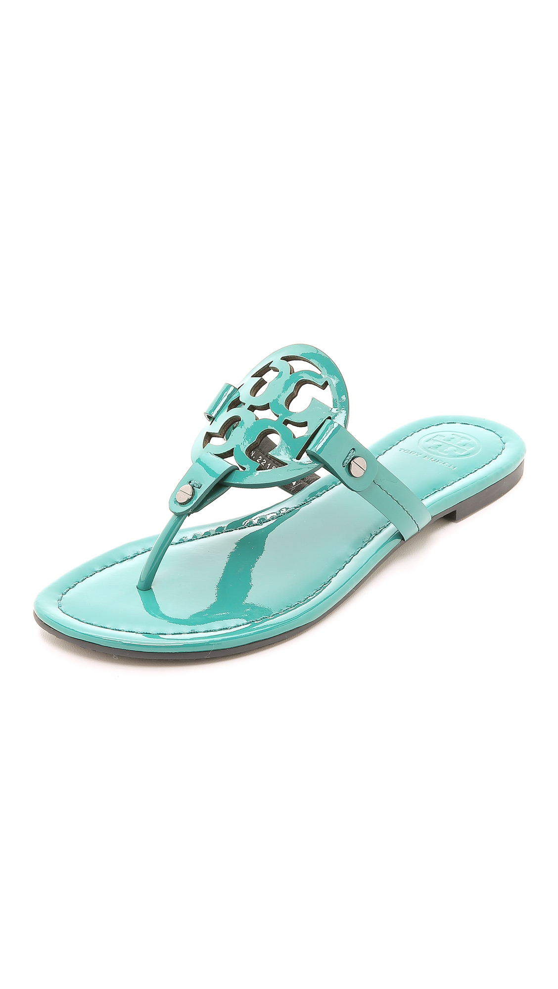 4b6797950c982c Lyst - Tory Burch Miller Thong Sandals - Electric Eel in Green