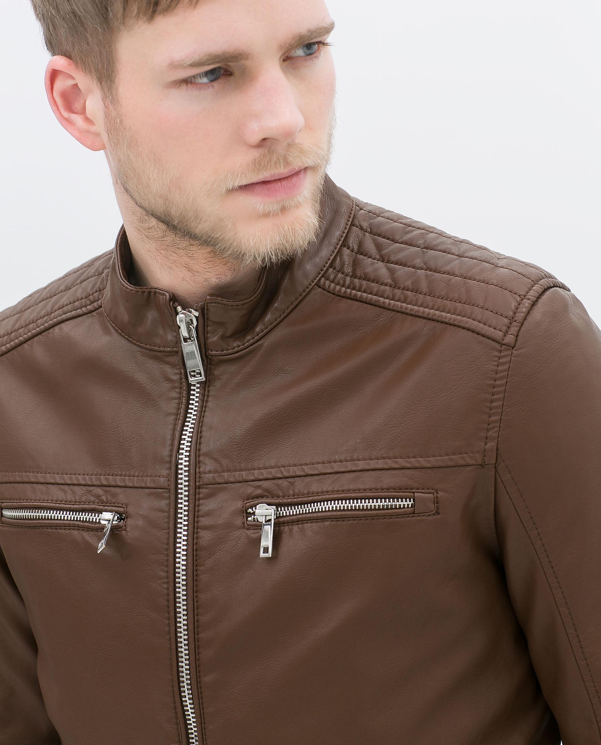 Zara Mens Leather Fur Jacket Cairoamani Com