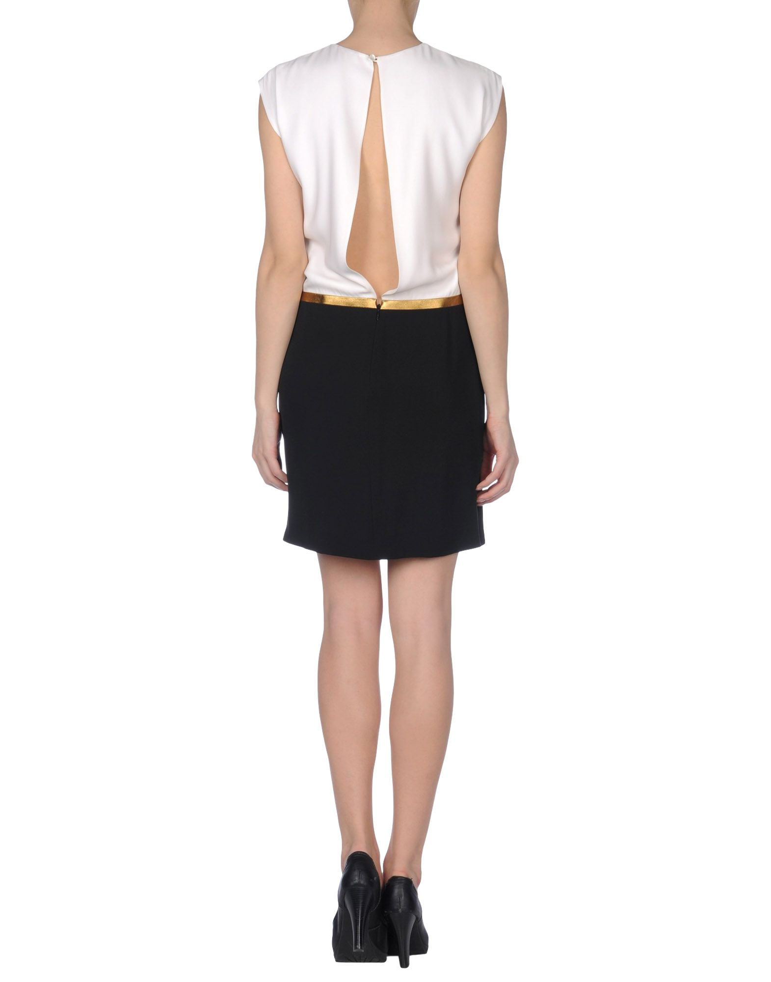 gucci short dress in black white lyst
